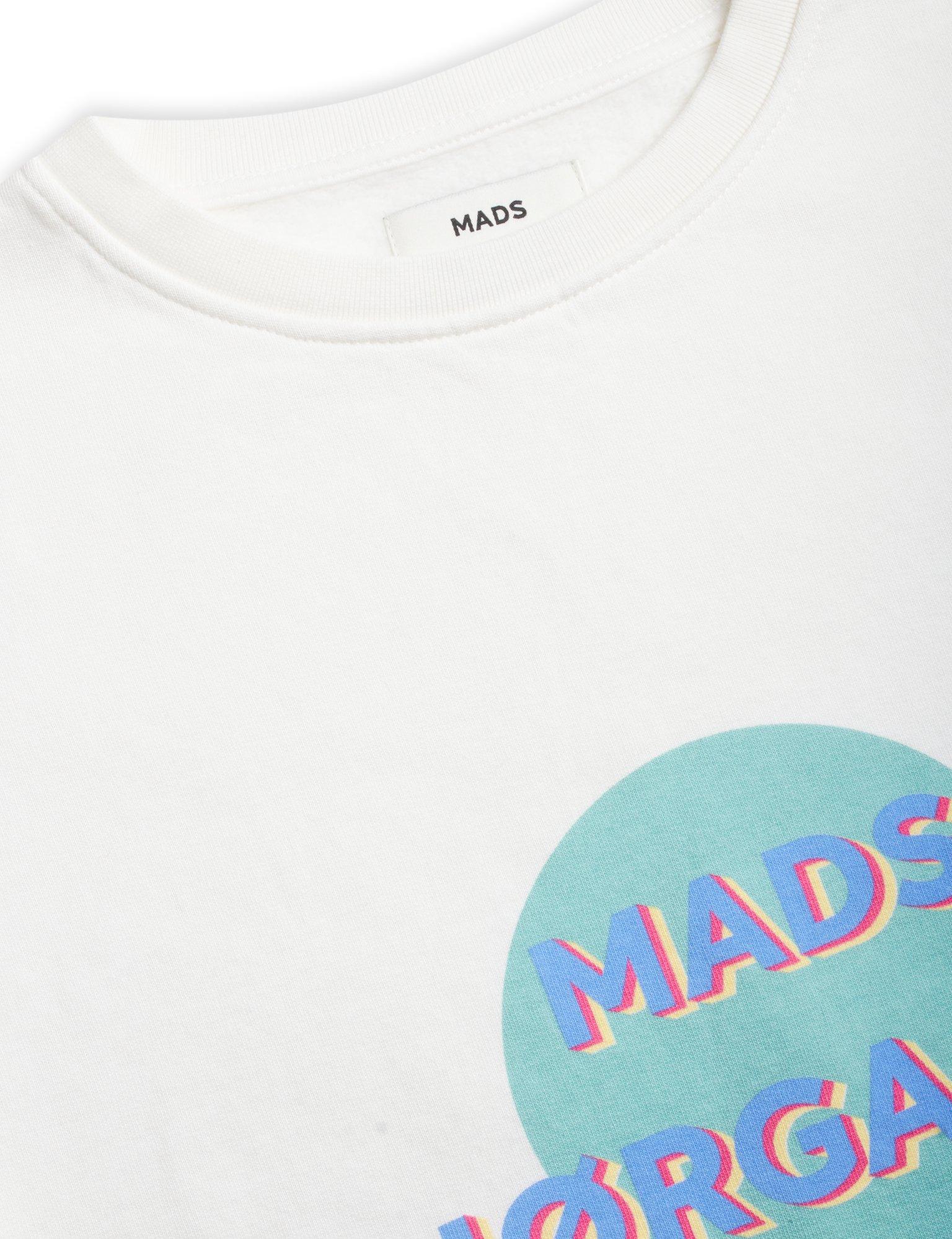 Mads Nørgaard Organic Tilvina C sweatshirt, white alyssum, large