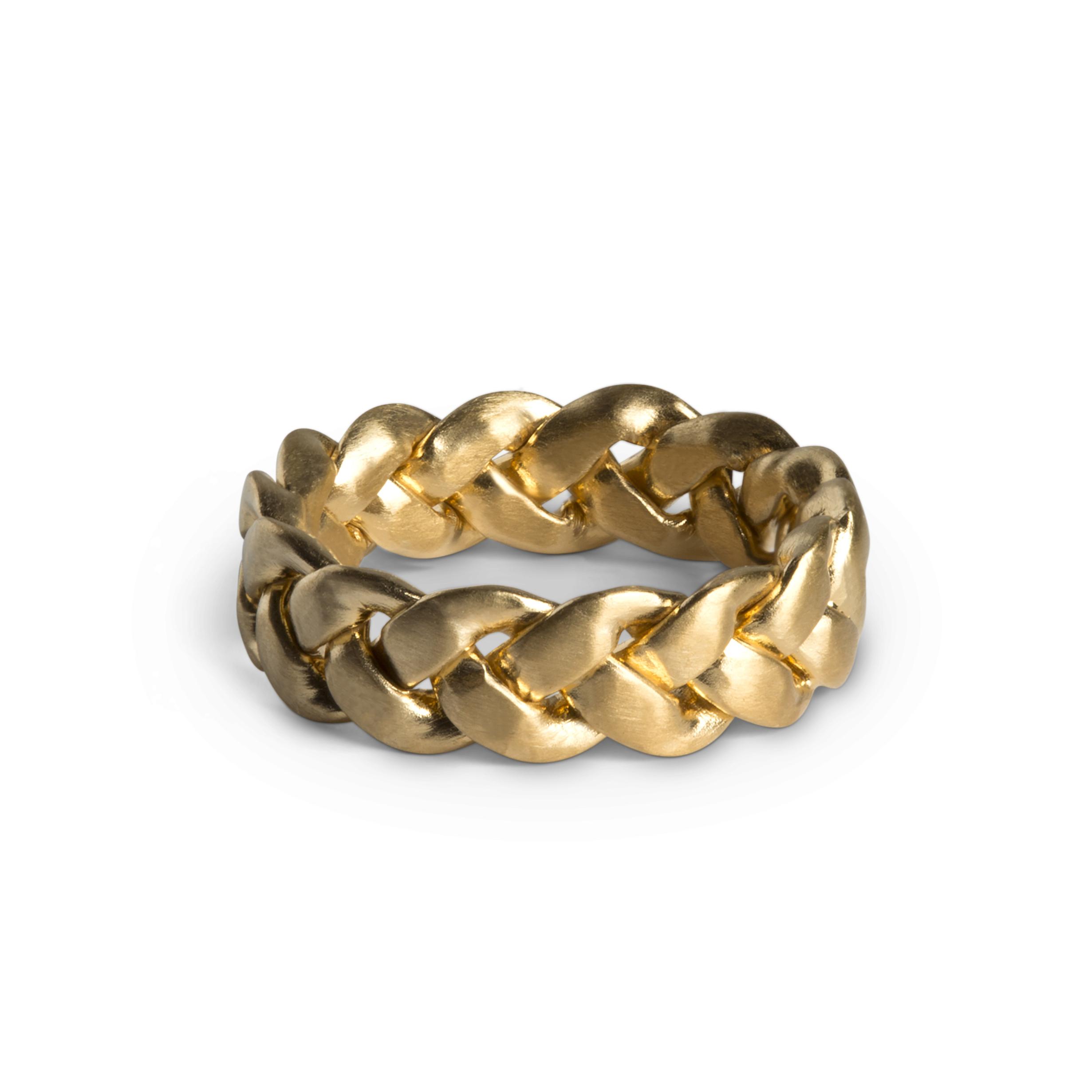 Jane Kønig Big Braided ring, guld, 58