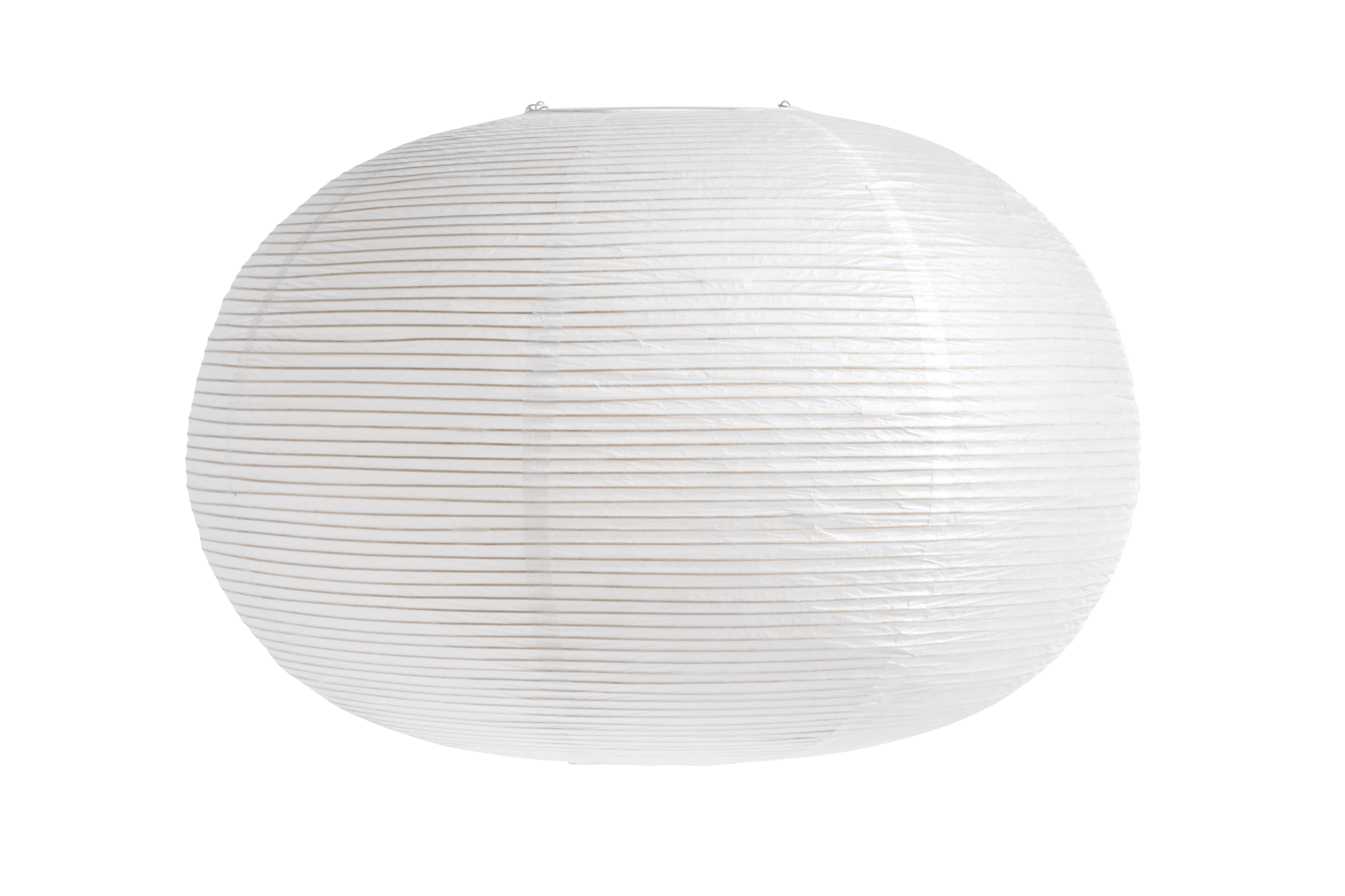 HAY Ellipse rispapir lampeskærm, Ø70 cm, hvid