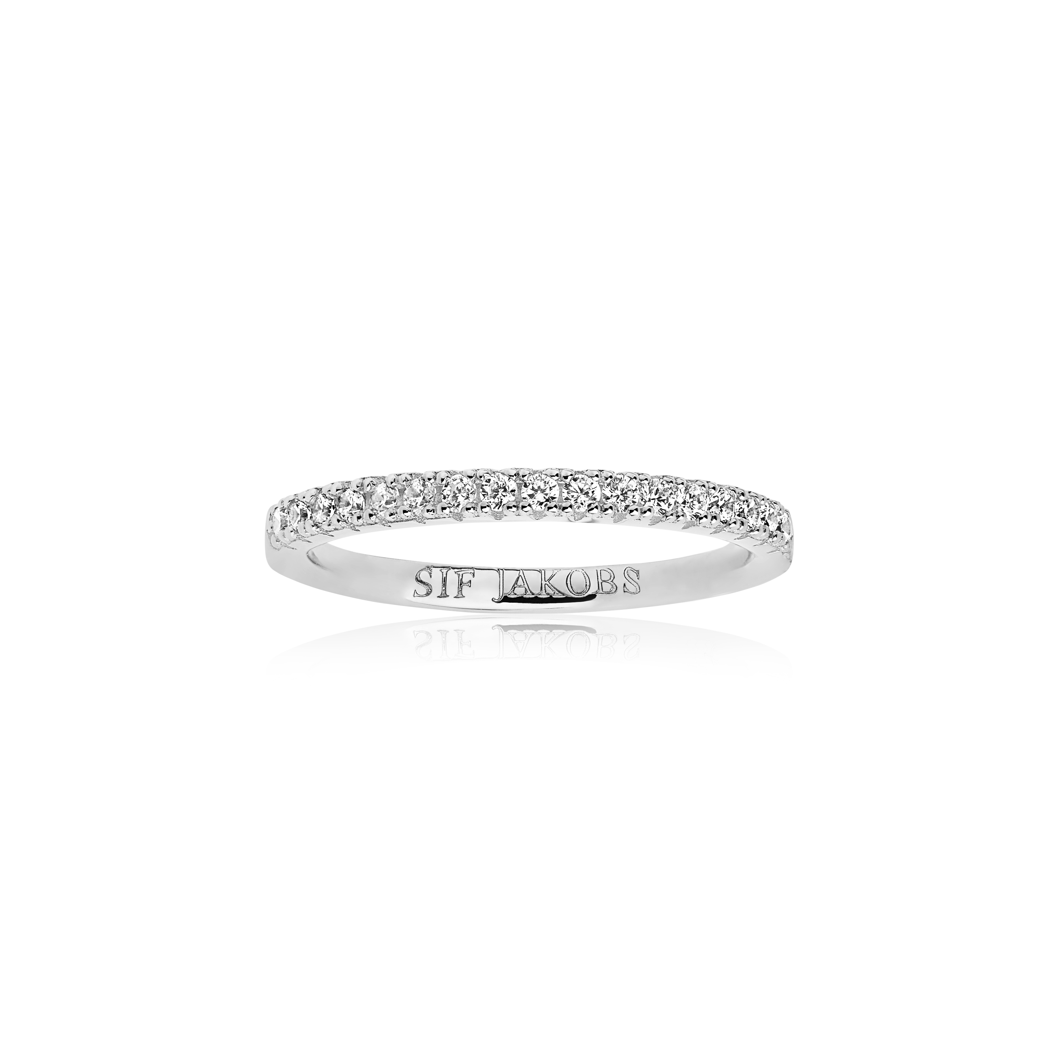 Sif Jakobs Jewellery Ellera ring, sølv/hvid, 56