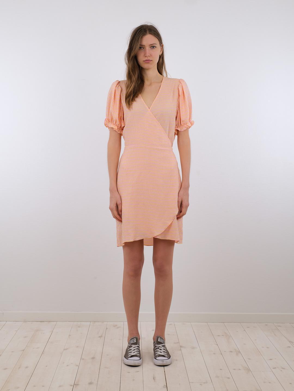 Neo Noir Spang Spring Stripe kjole, light yellow, 38