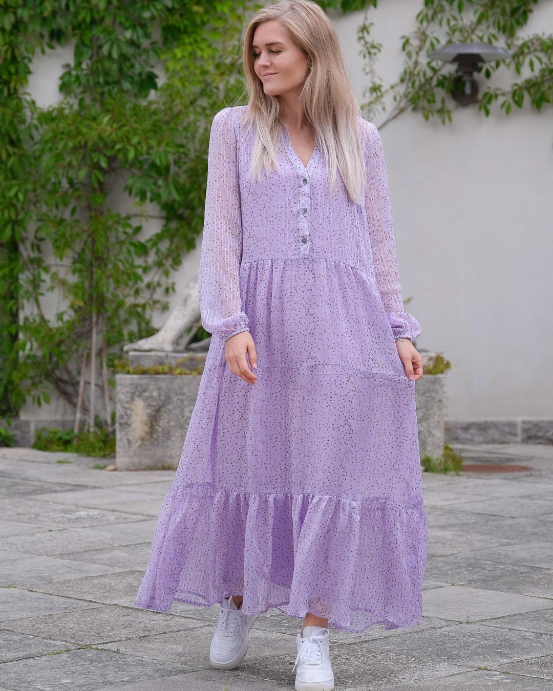 Neo Noir Nobis Sparkle kjole, lavender, 36