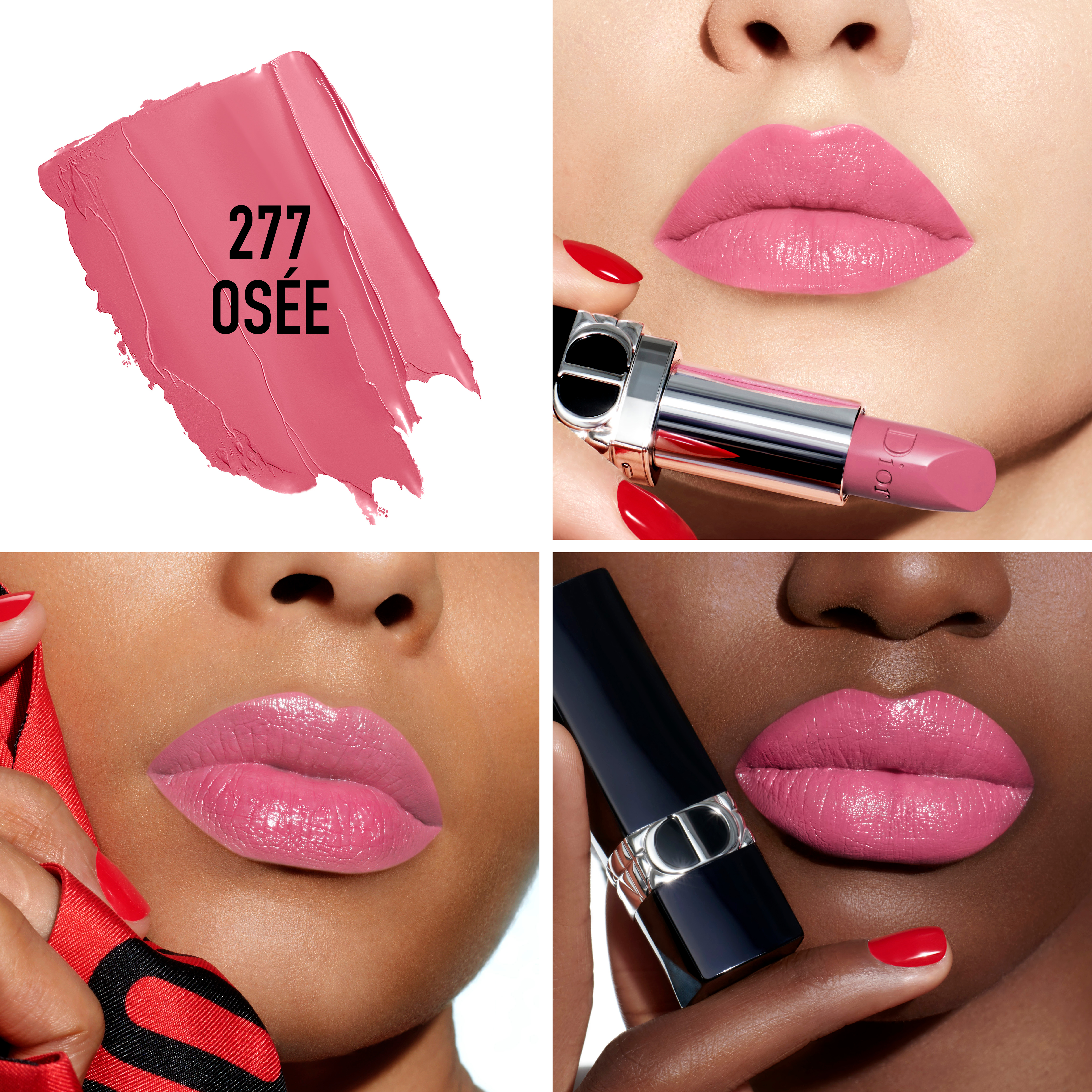 DIOR Rouge Dior Refillable Satin Lipstick, 277 osee
