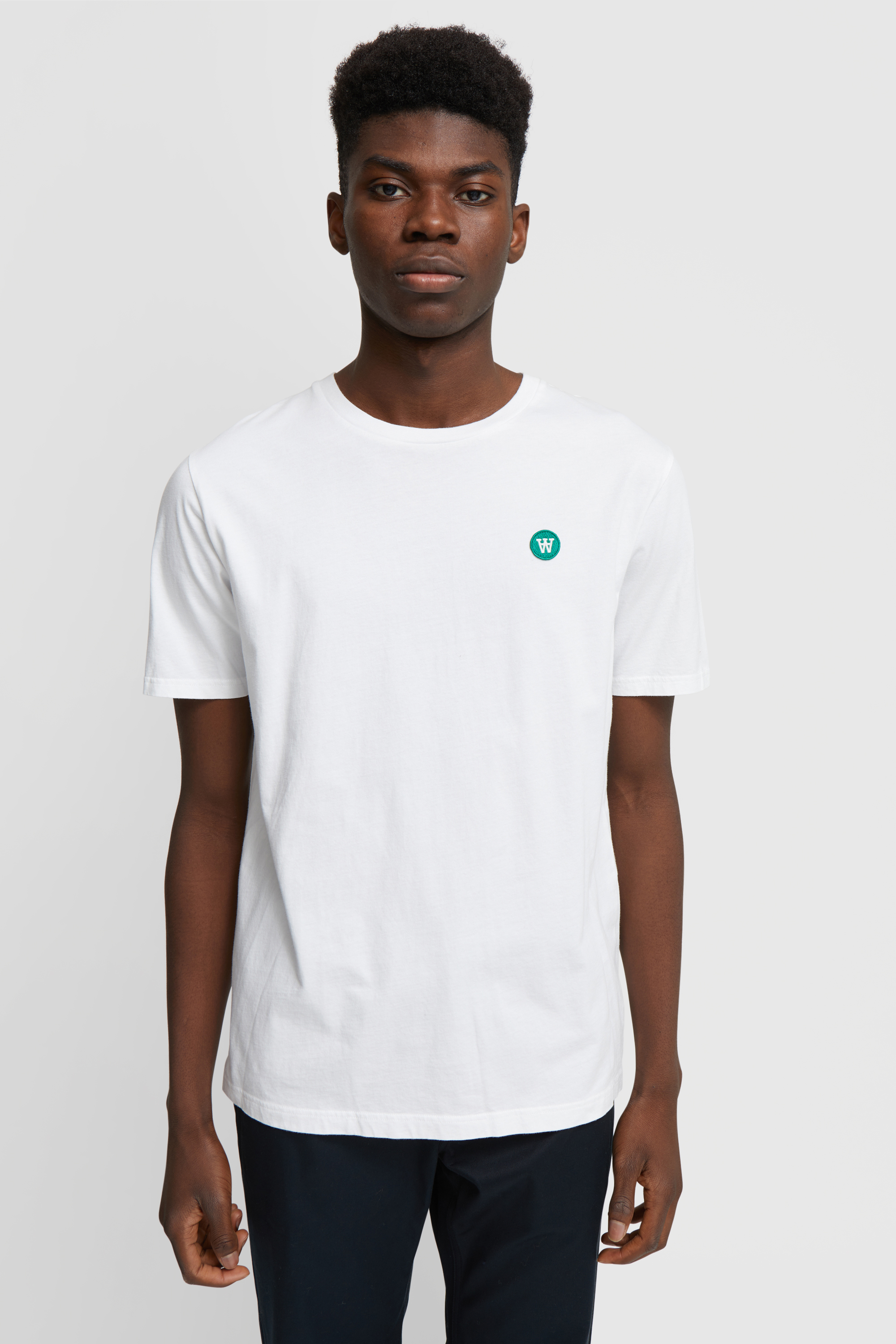 Wood Wood Double A Ace T-shirt, bright white, small