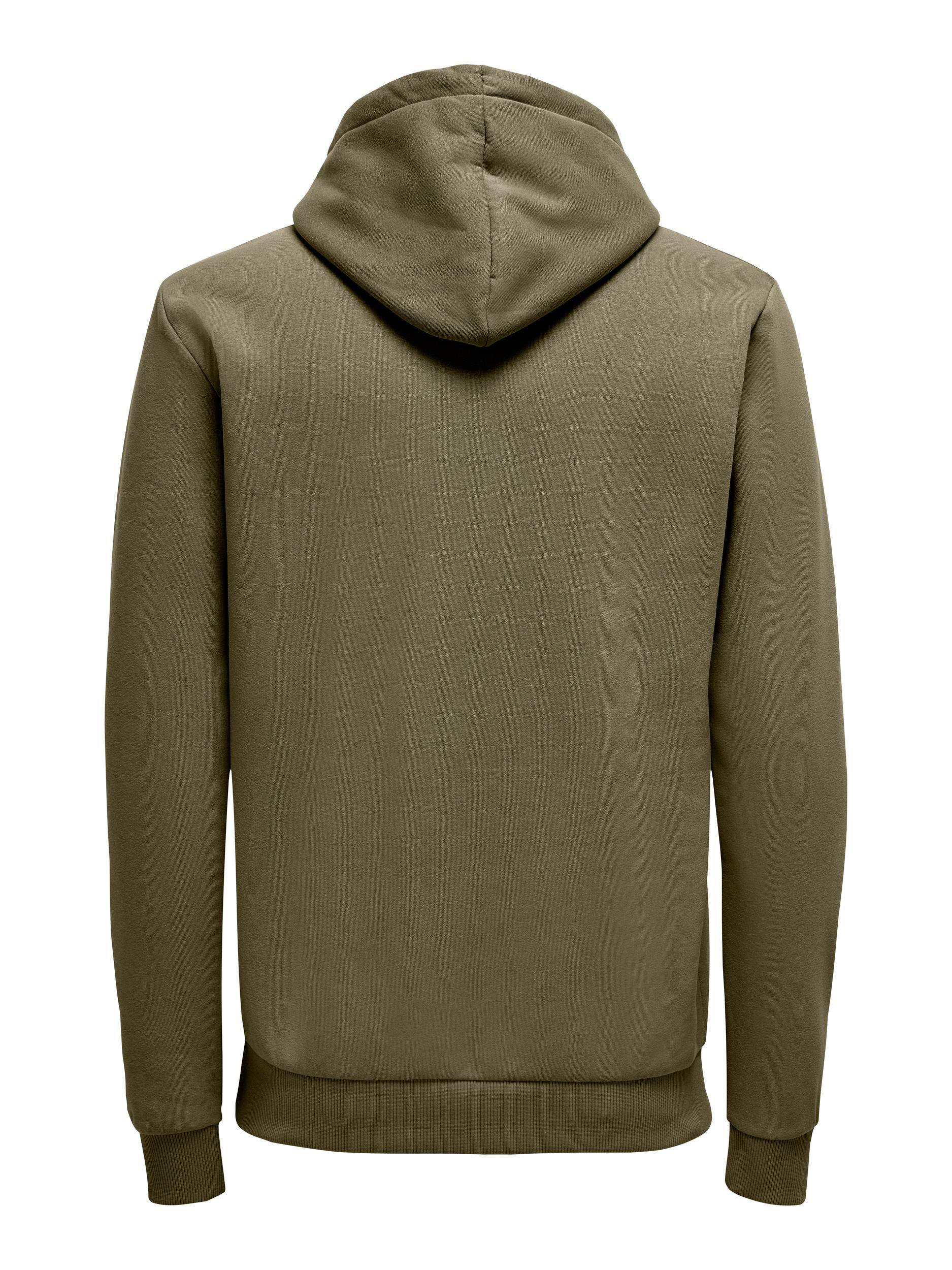 Only & Sons Ceres Life Zip hoodie, forest night, small