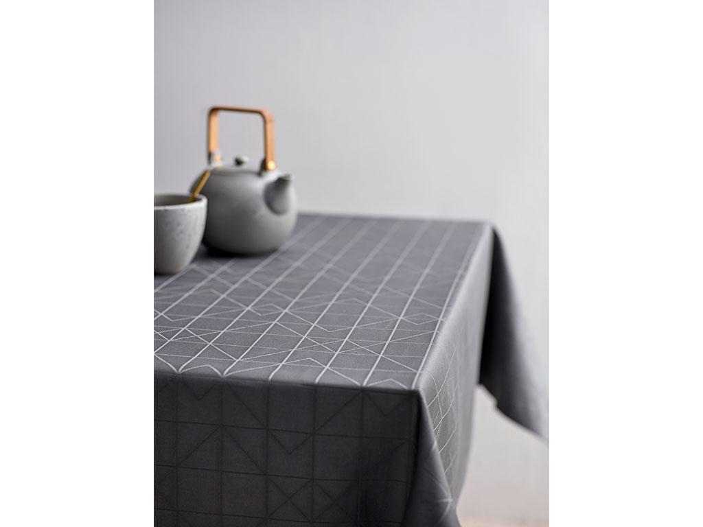 Södahl Refined organic damaskdug, 140x180 cm, grey
