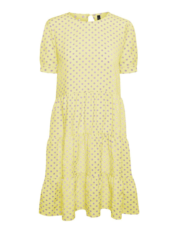 Vero Moda Nelly Dot kjole, wax yellow, medium