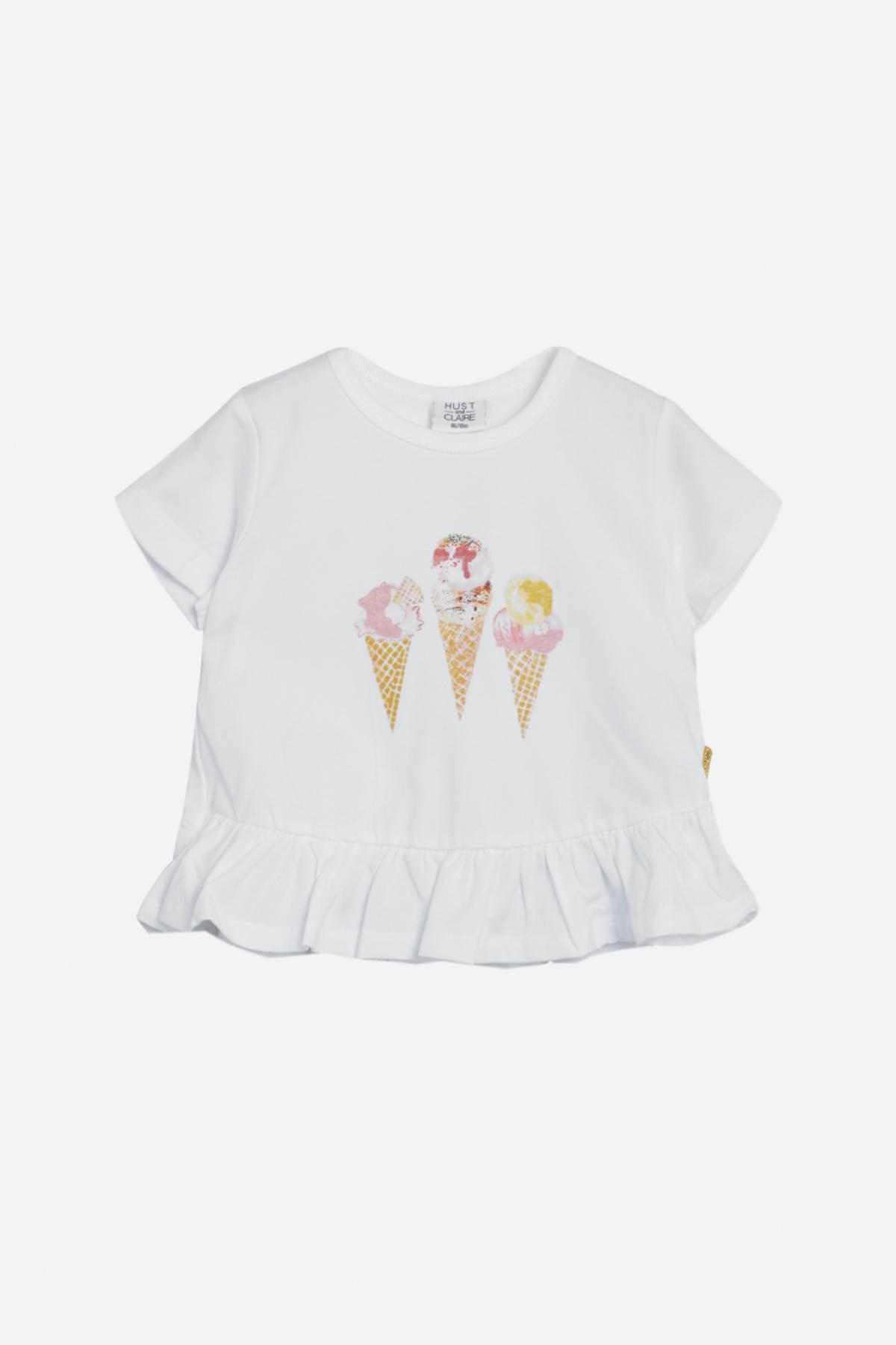 Hust & Claire Athena t-shirt, hvid, 98
