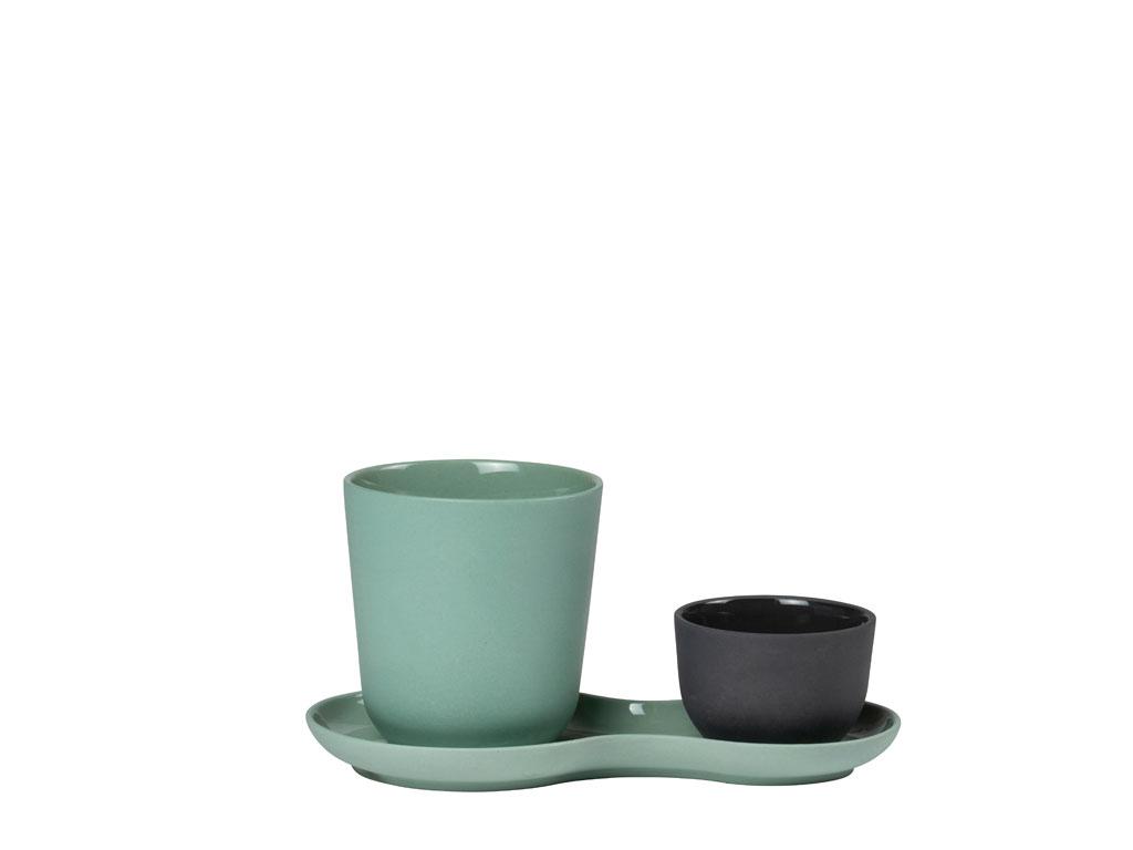 Nudge Coffee & Sweets stel, kale green, 3 dele