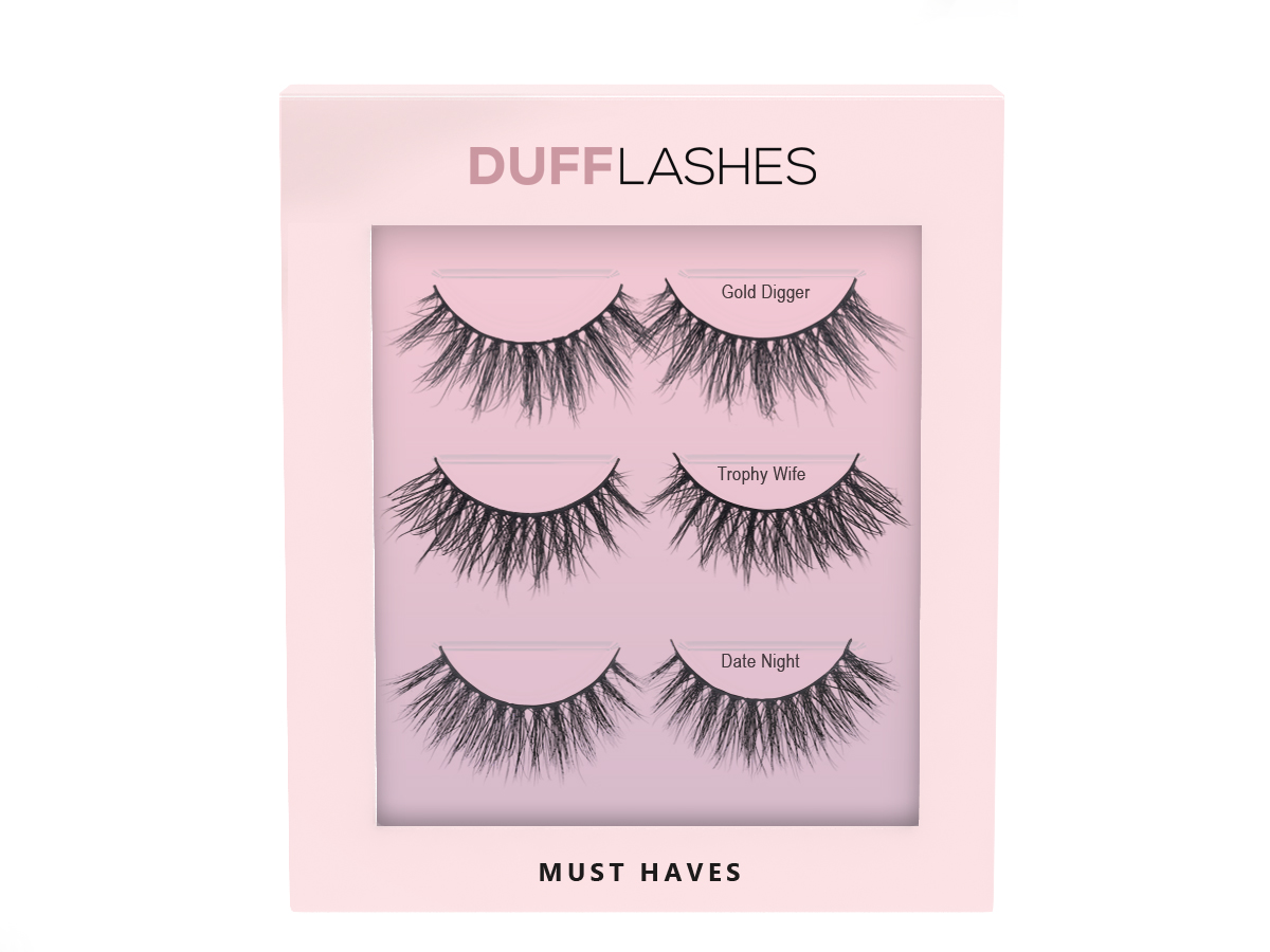 DUFFBeauty Must Haves 3 pairs
