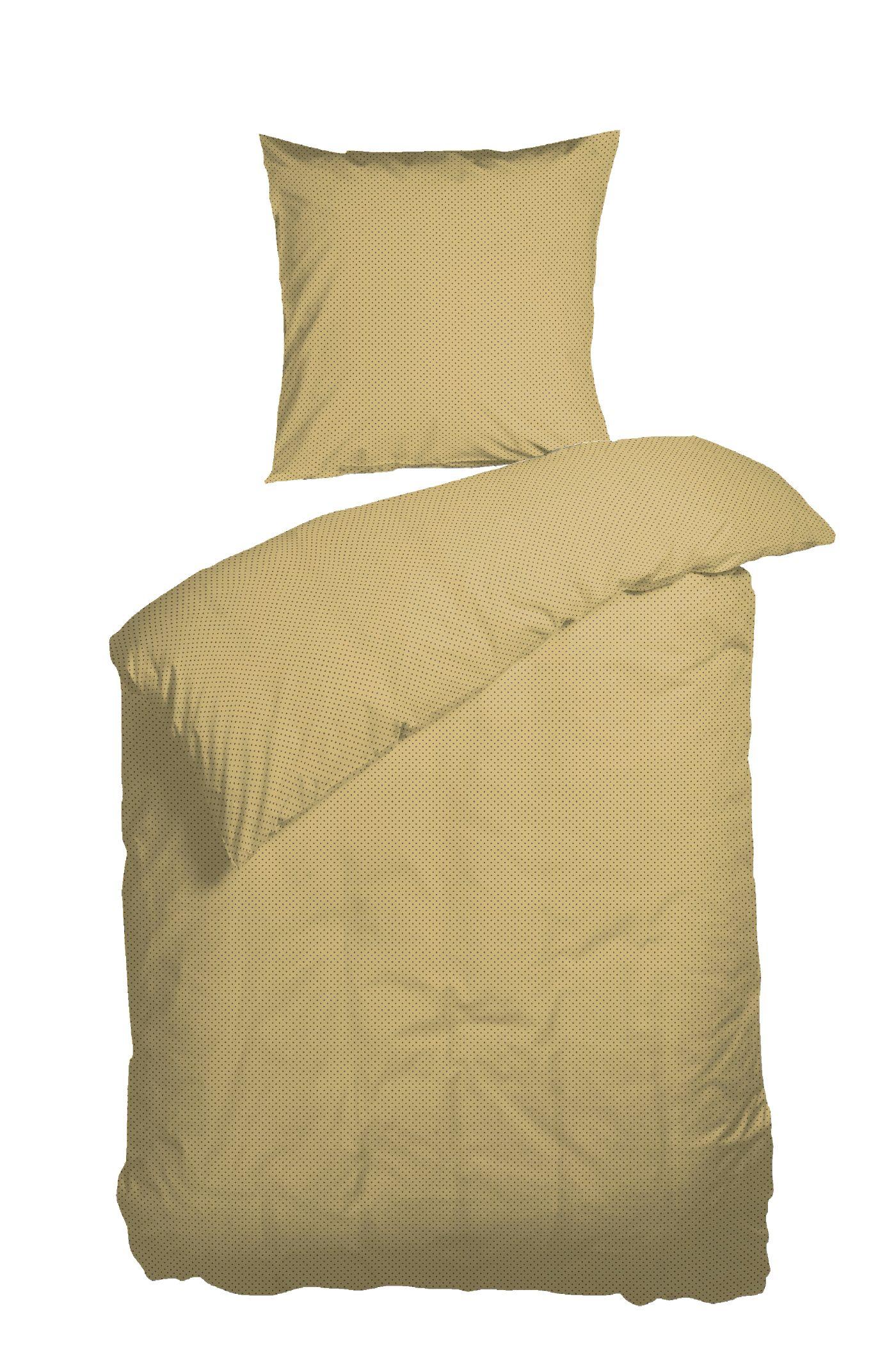 Nordisk Tekstil Morning Dew sengelinned, 140x220 cm, yellow