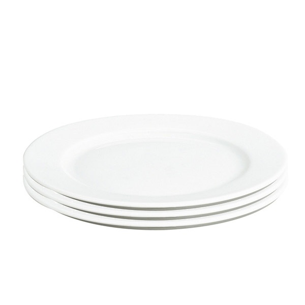 Pillivuyt Sancerre middagstallerken, Ø28 cm, hvid, 3 stk
