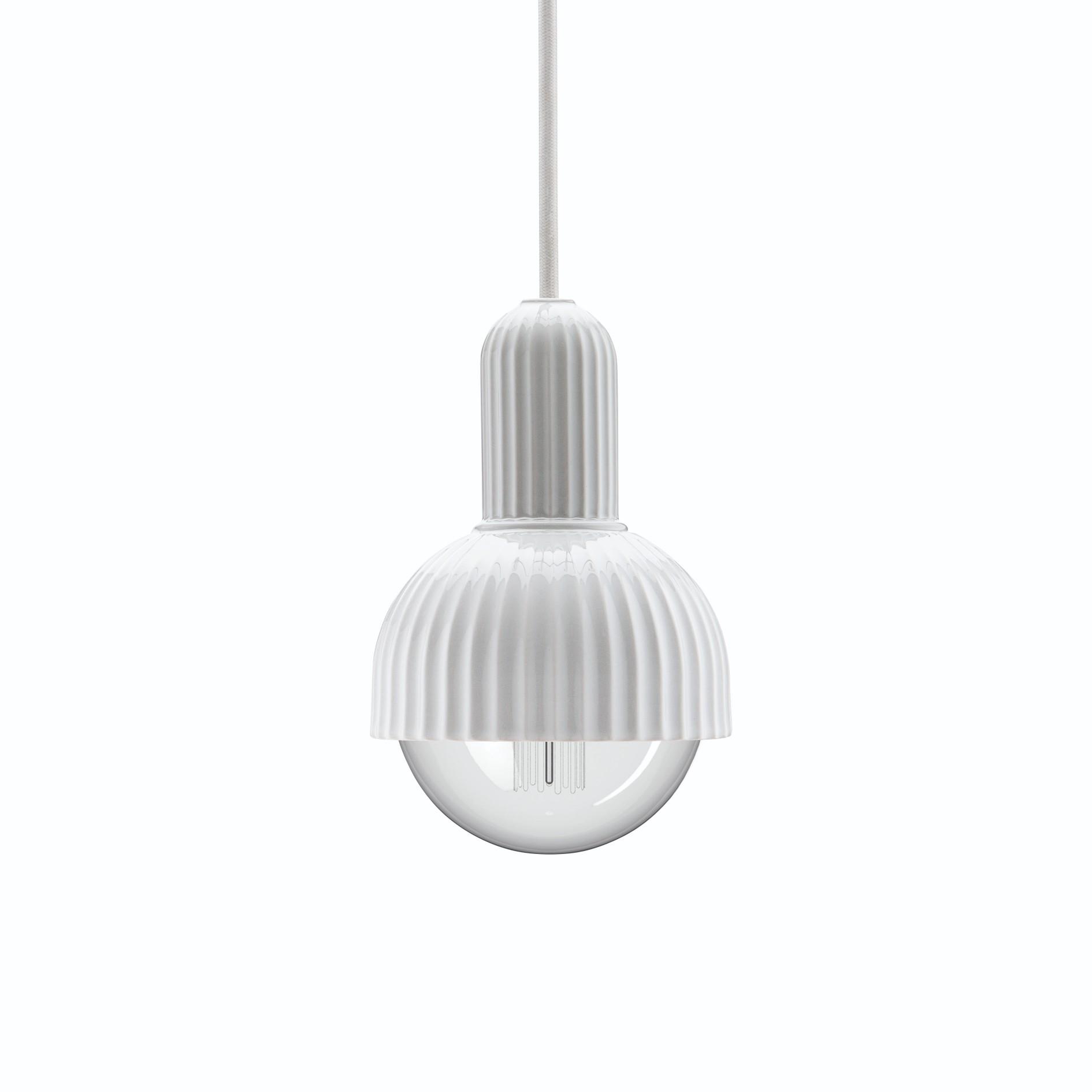Lyngby Fitting porcelænsfatning 02, hvid