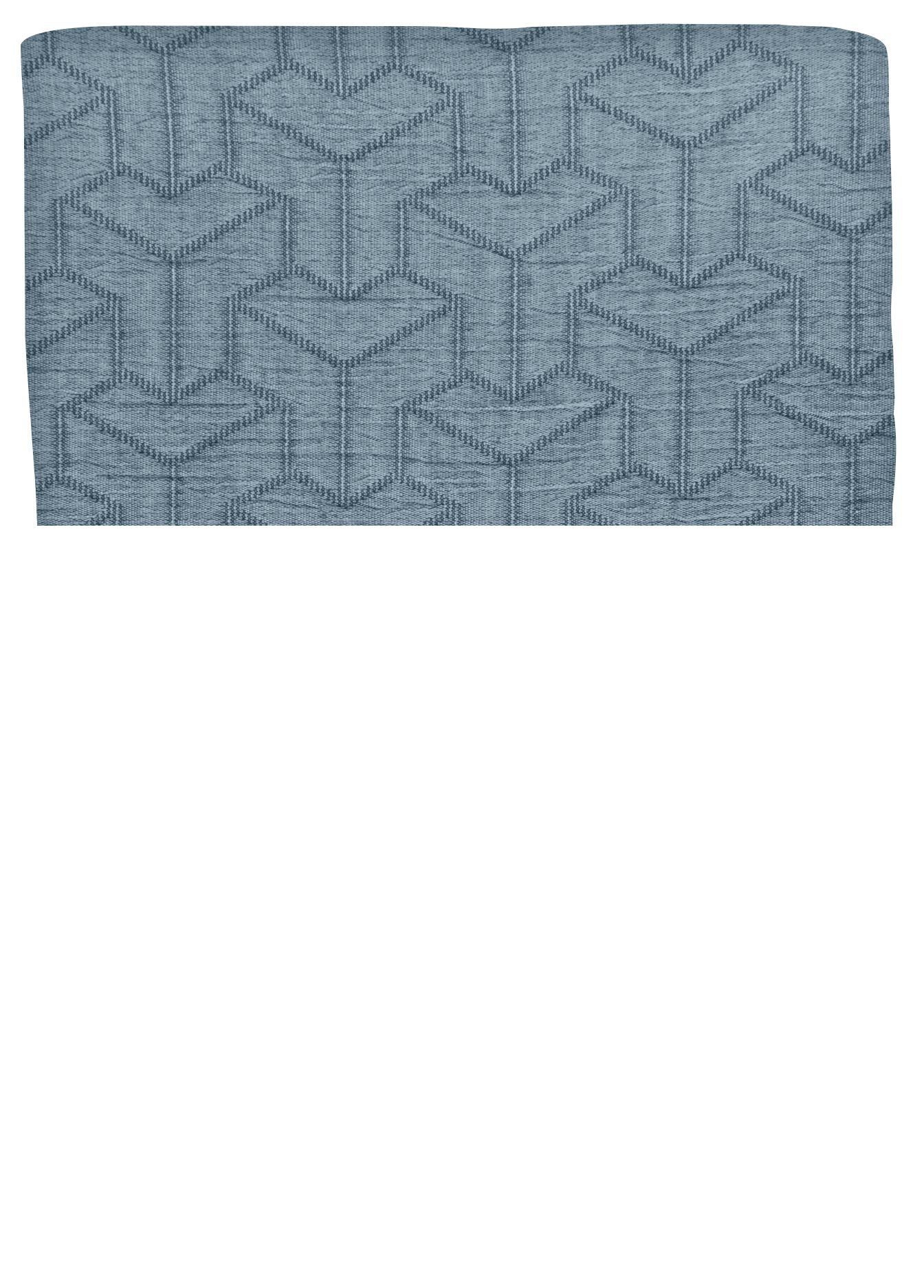 Mette Ditmer Trio sengetæppe, 140x250 cm, petrol blue