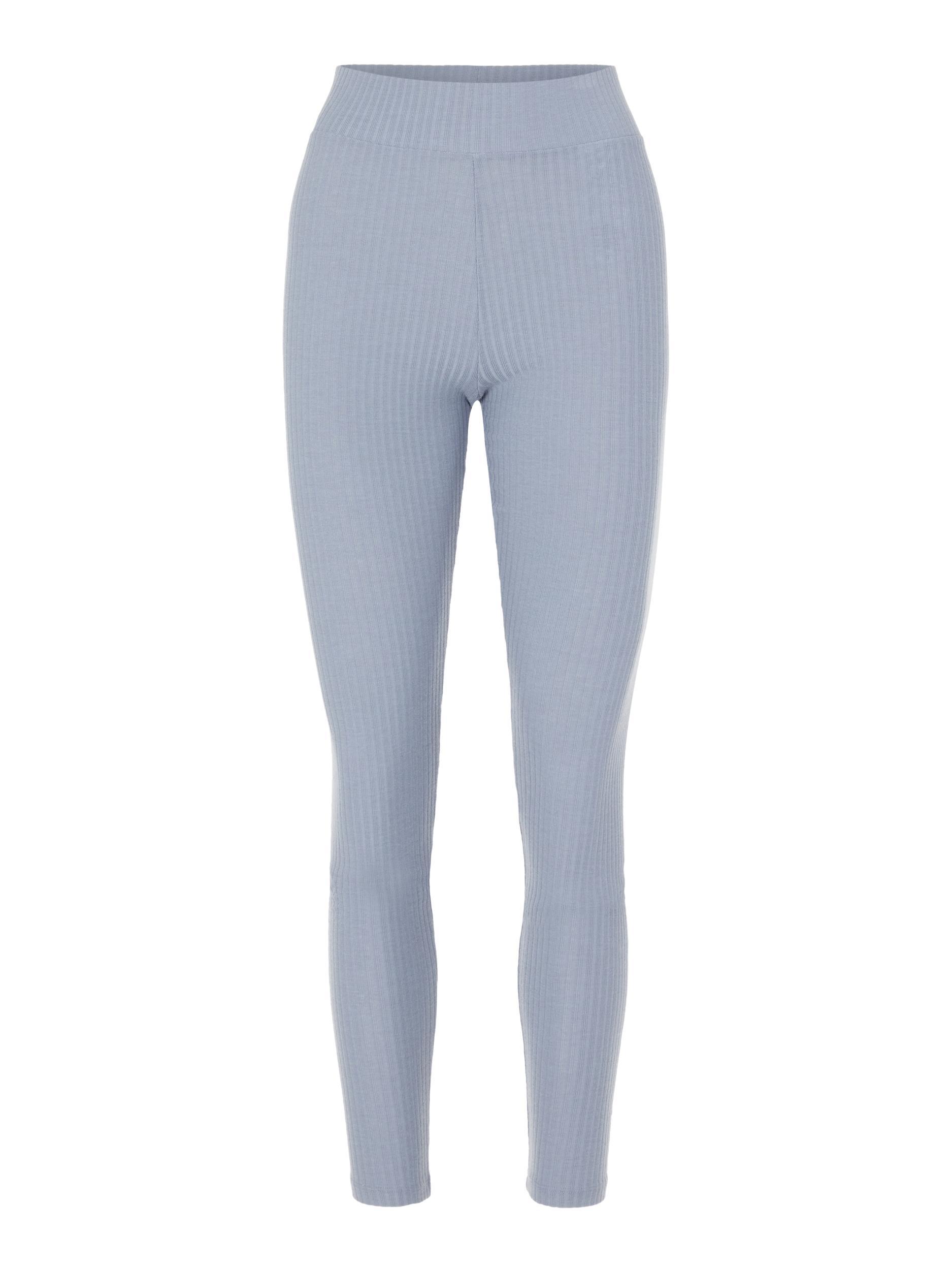 Pieces Ribbi HW leggings, Blue Fog, M