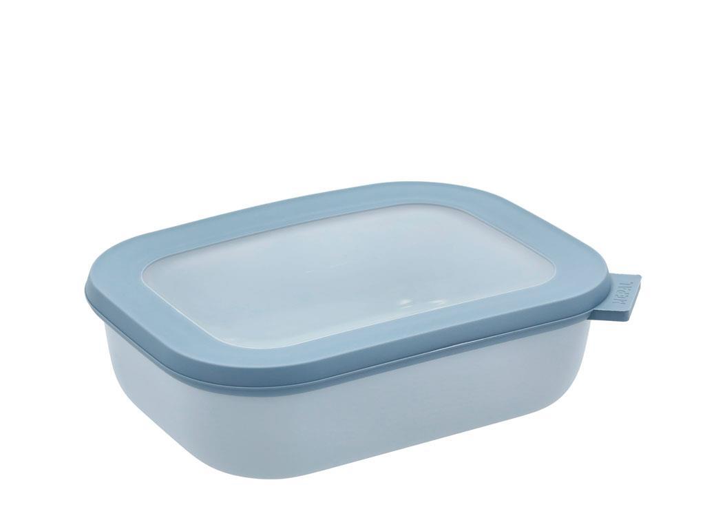 Mepal Cirqula rektangulær skål, 1000 ml, nordic blue