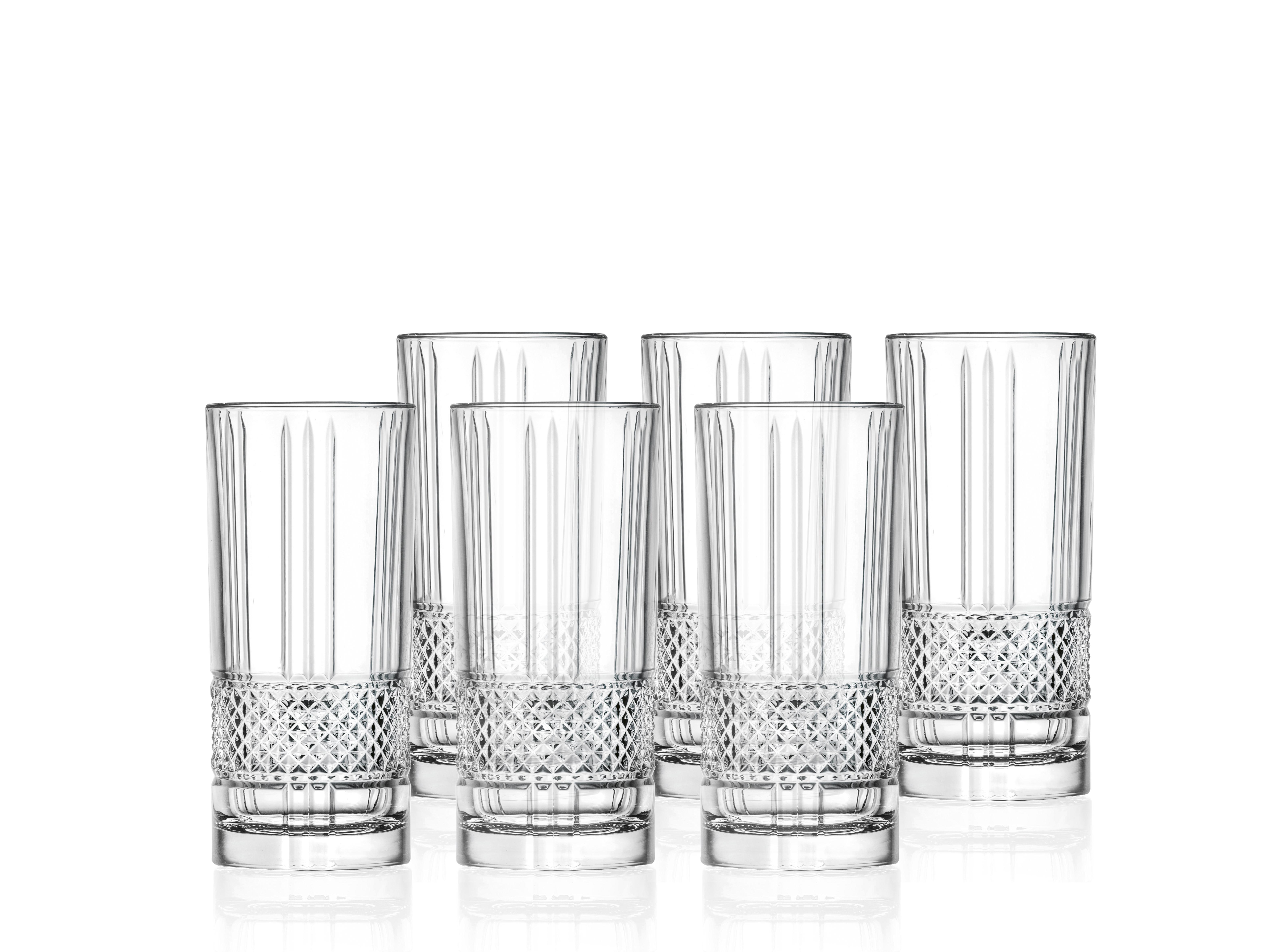 Lyngby-Glas Brillante highballglas, 370 ml, 6 stk