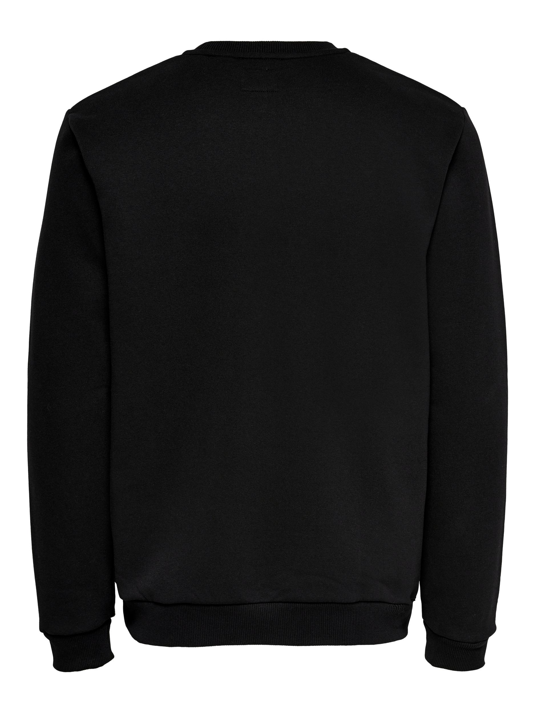 Only & Sons Ceres Life Crew Neck sweatshirt, black, small