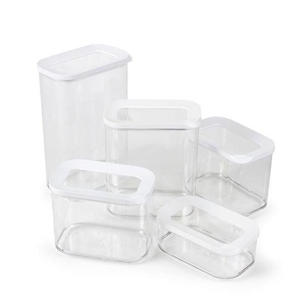 Mepal Modula opbevaringsbokse, hvid, 5 stk