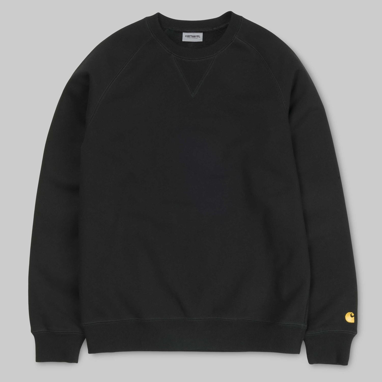 Carhartt Chase sweatshirt, black/gold, xx-large