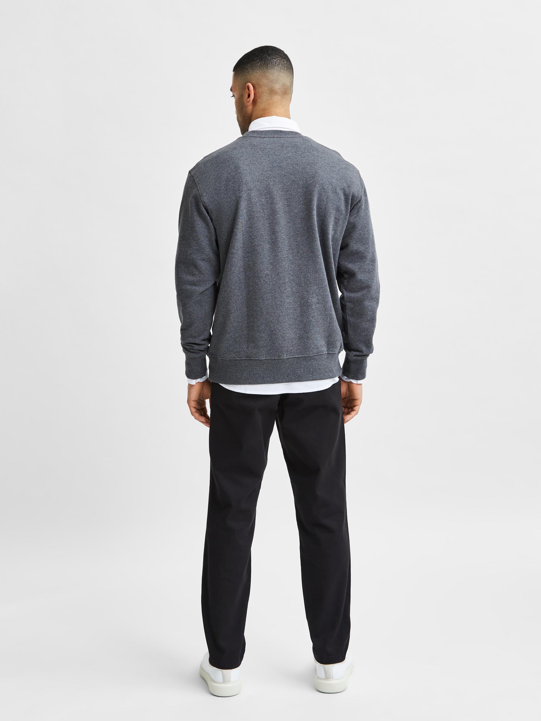 Selected Homme Jason Crew Neck sweatshirt, antracit, large