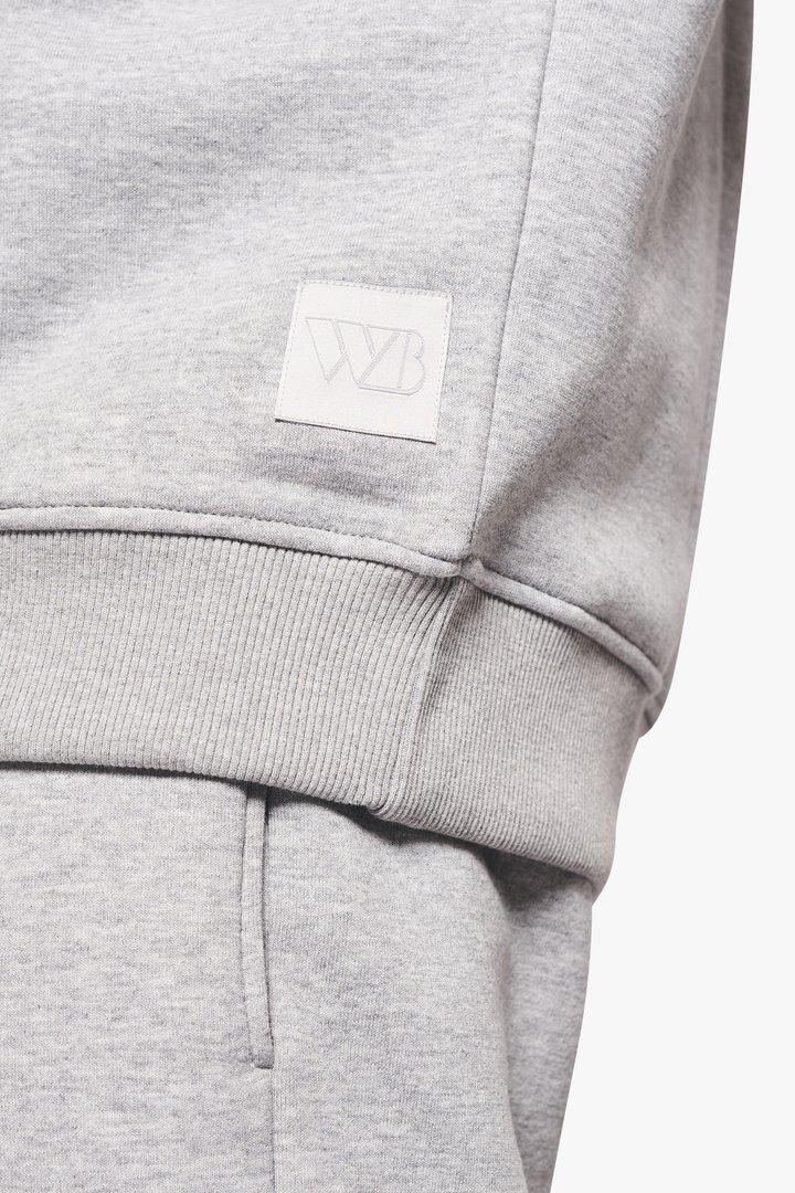 Woodbird Mufti Mitu Crew sweatshirt, grey melange, medium