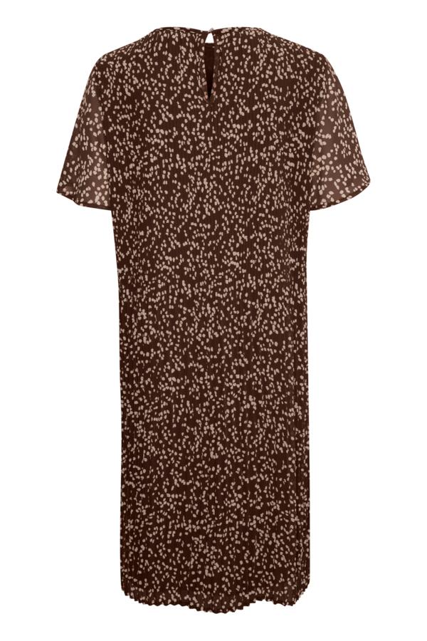 InWear 30106433 kjole, coffe brown windy dot, 38