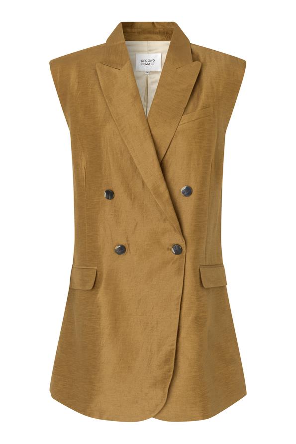 Second Female Lia vest, Bronze Brown, L