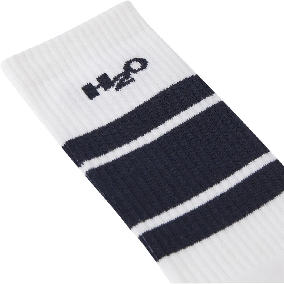 H2O Crew Sock, white/navy, 40-42