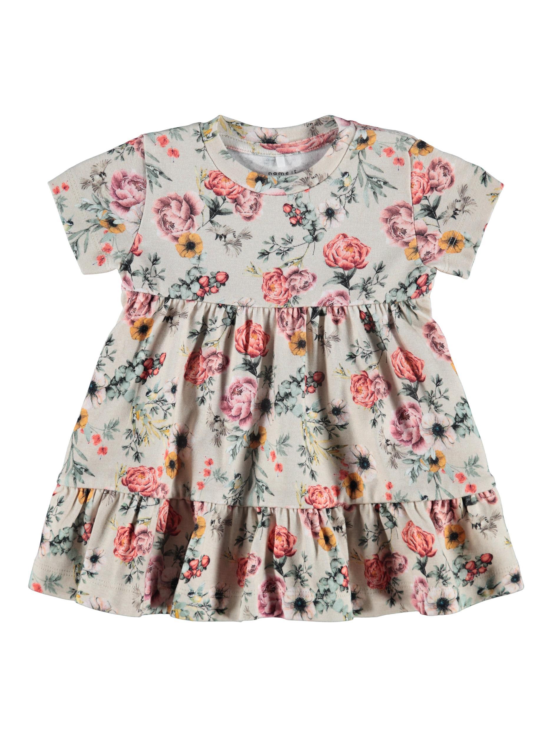 Name It Josse SS kjole, peyote melange, 56