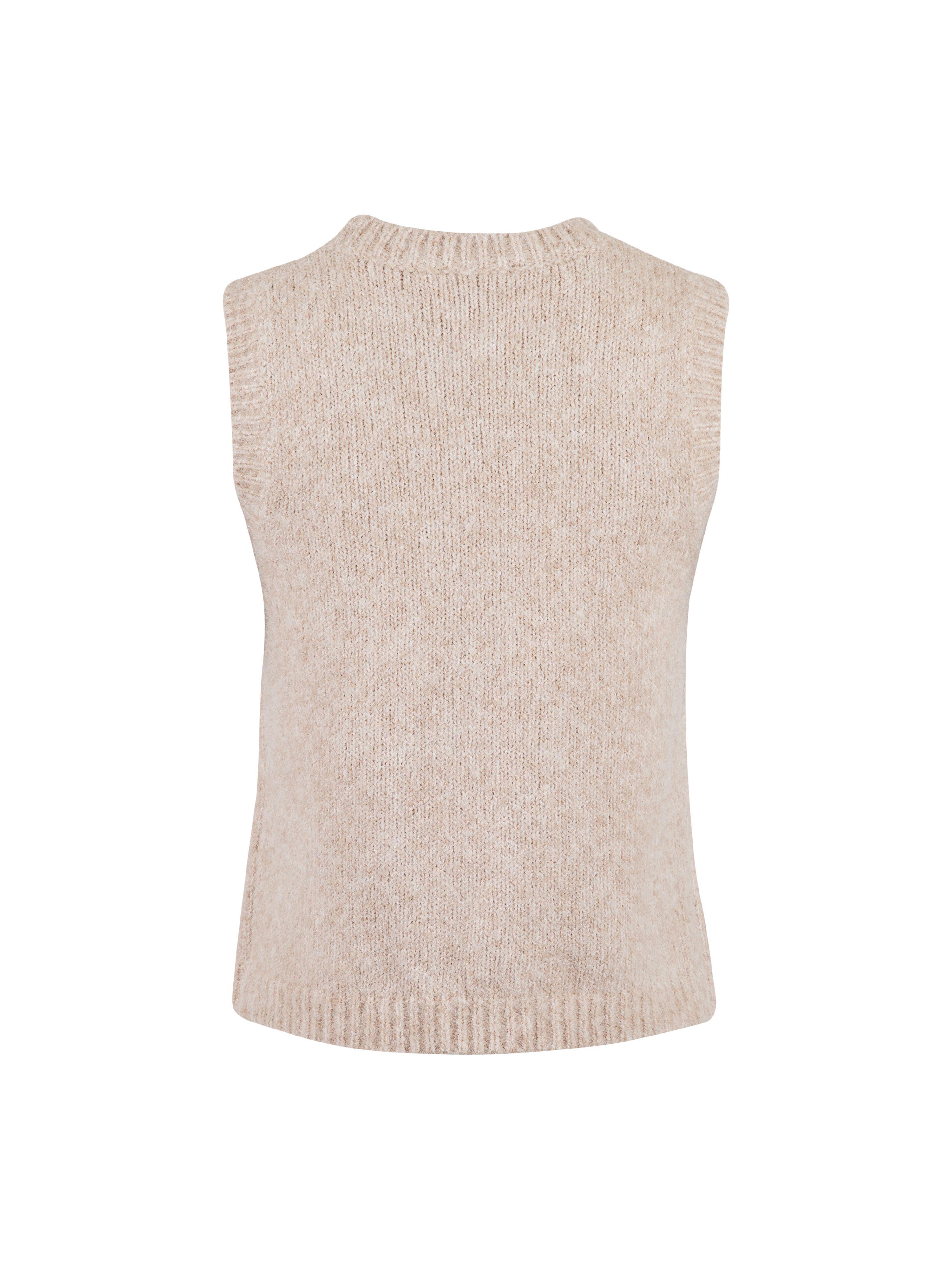 Neo Noir Franko strik vest, sand, x-large