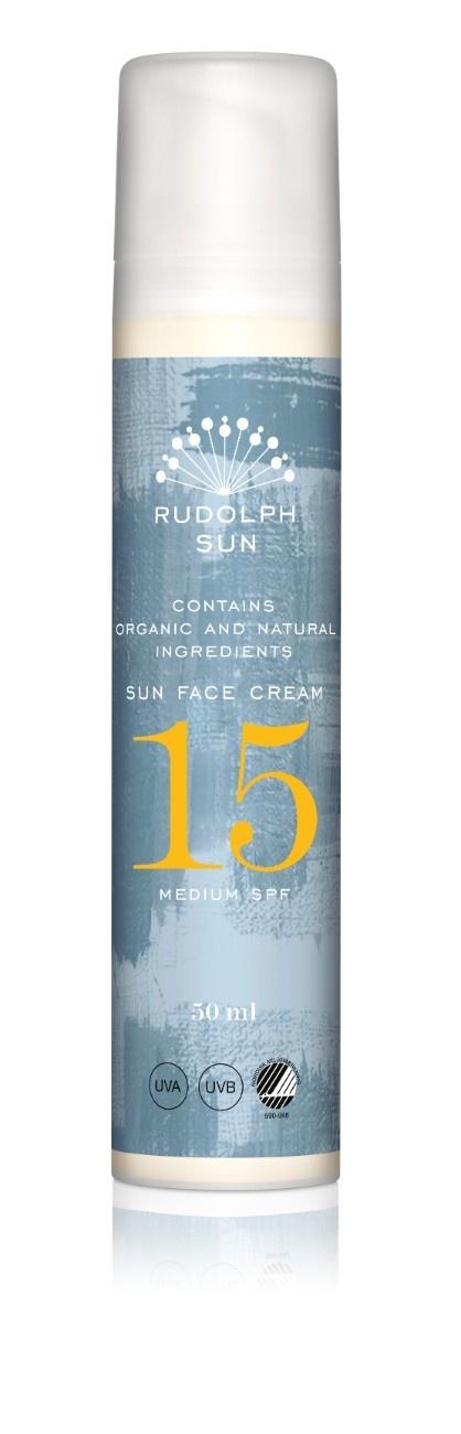 Rudolph Care Sun Face Cream, SPF 15, 50 ml