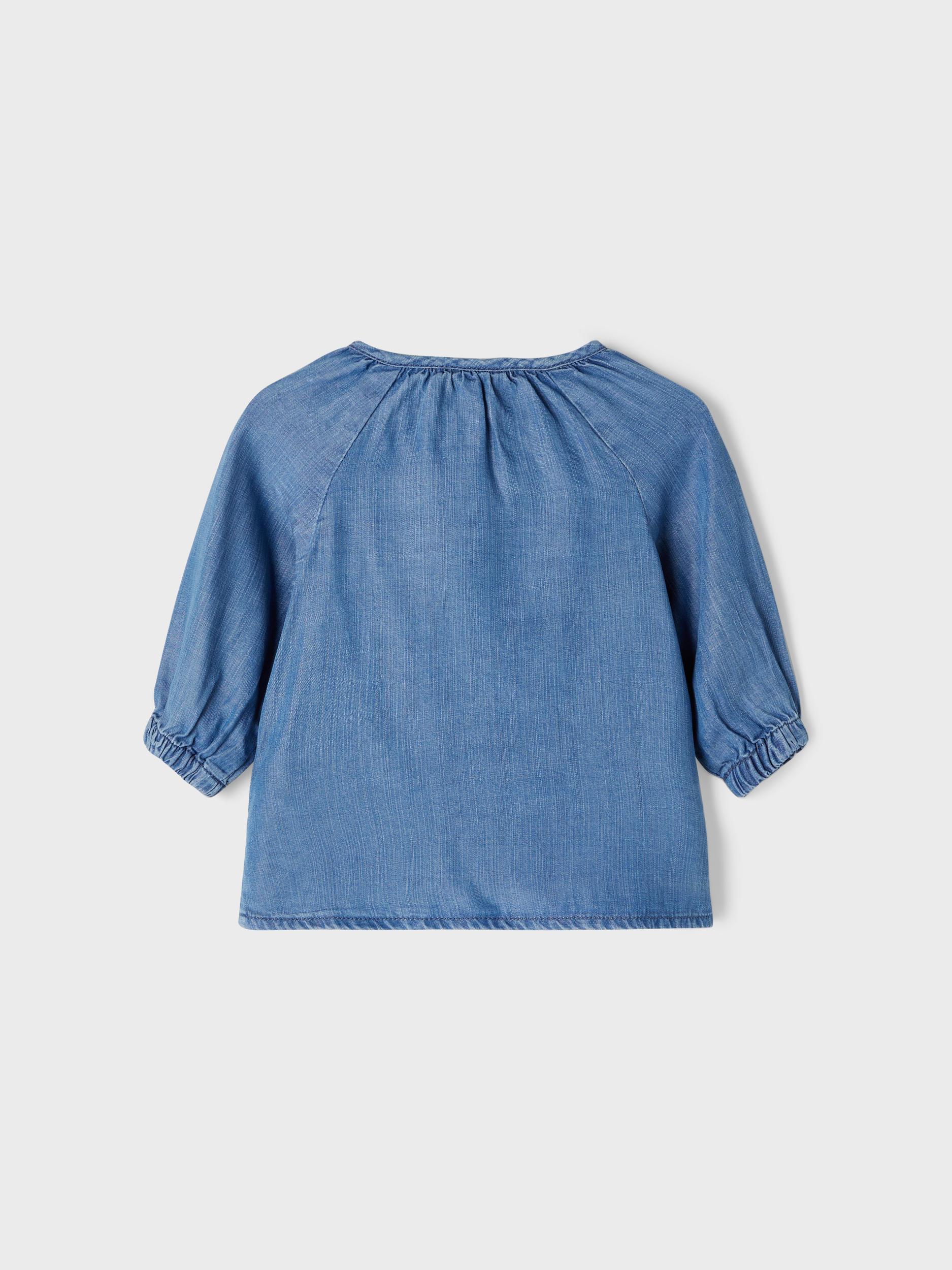 Name It Bathit Bluse, Blå, 50-61 cm/0-3 mdr.