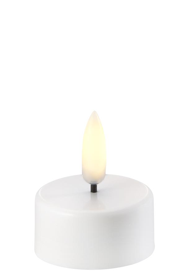Uyuni LED fyrfadslys, 3,8x4,7 cm, nordic hvid