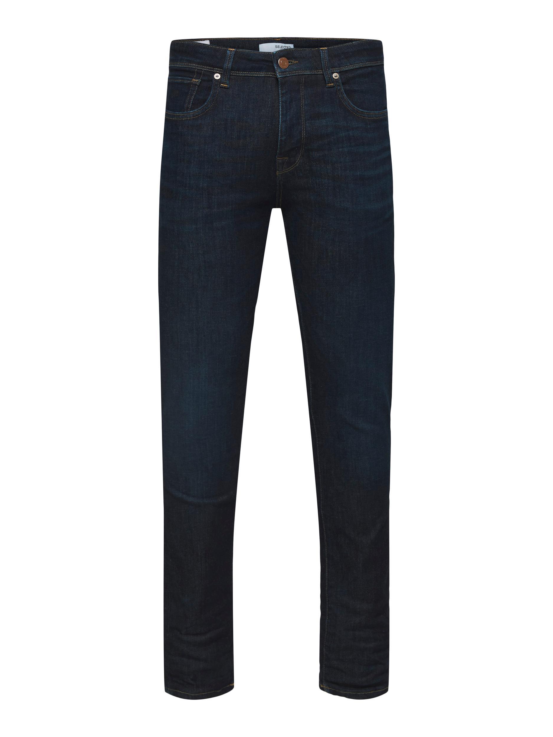 Selected Slim-Leon Jeans, Dark Blue Denim, 38/32