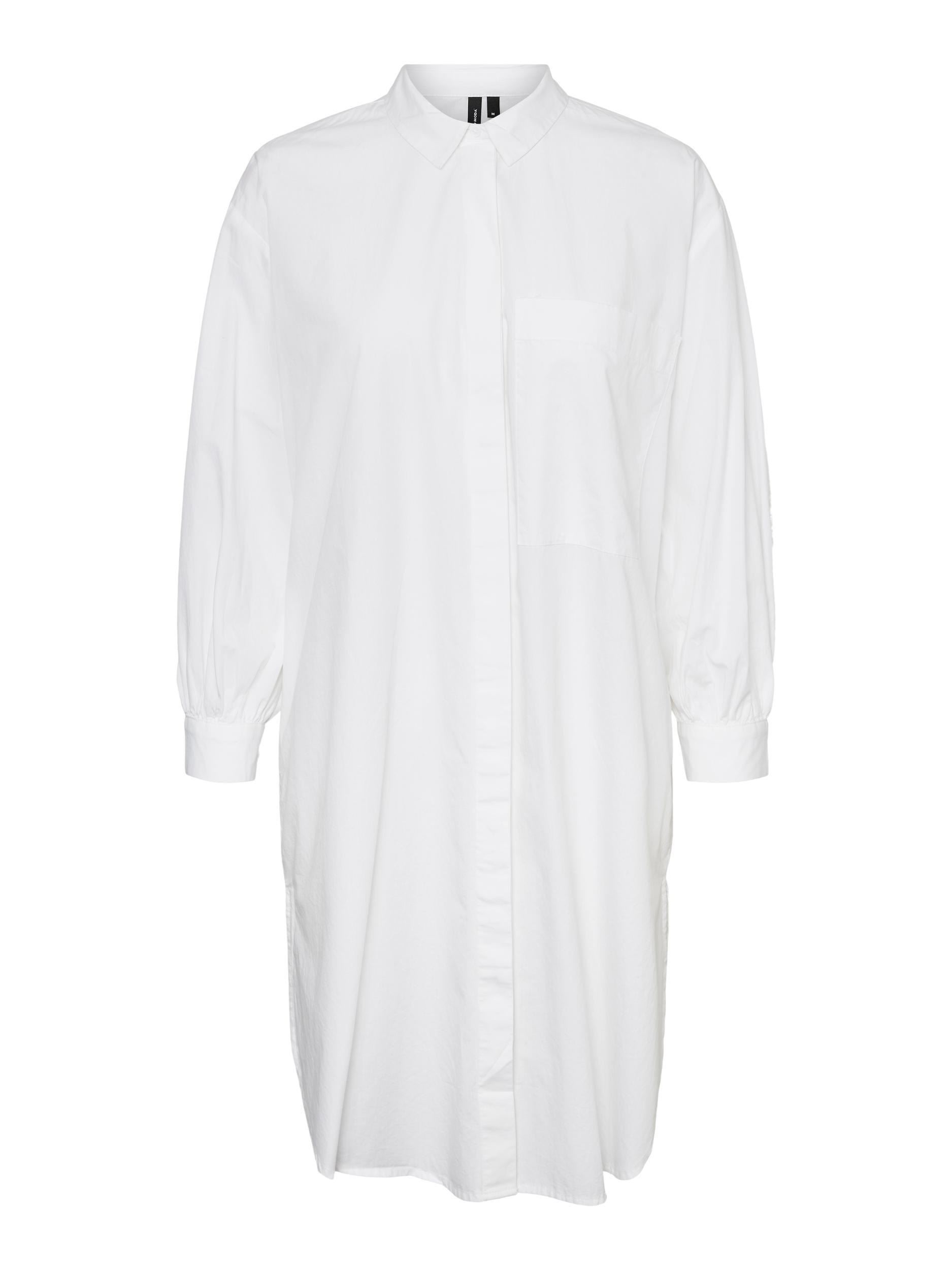 Vero Moda Hanna lang skjorte, snow white, medium