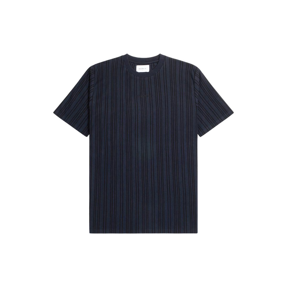 Woodbird Braws Pique T-shirt, Navy Black, M