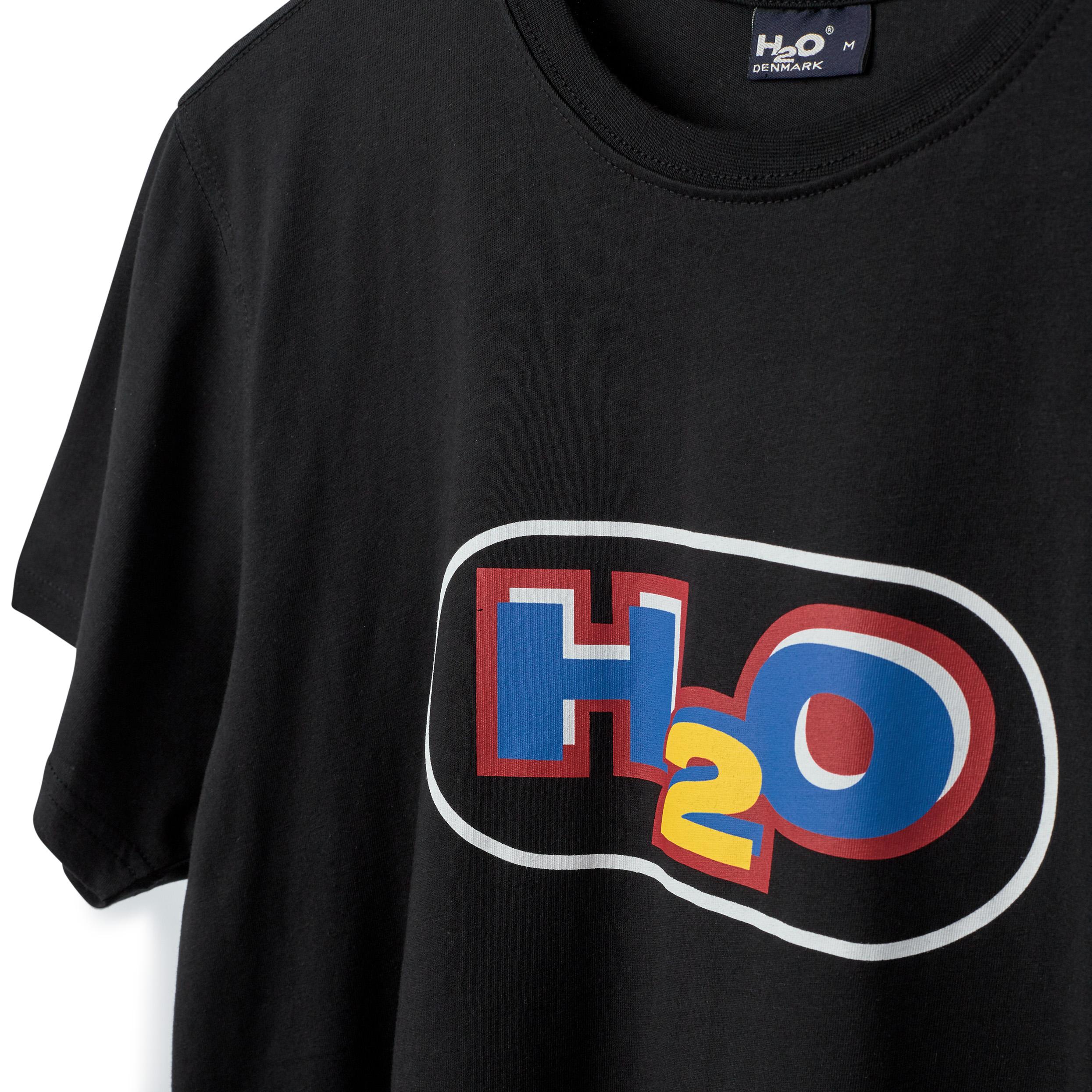 H2O Kilde t-shirt, black/white, medium