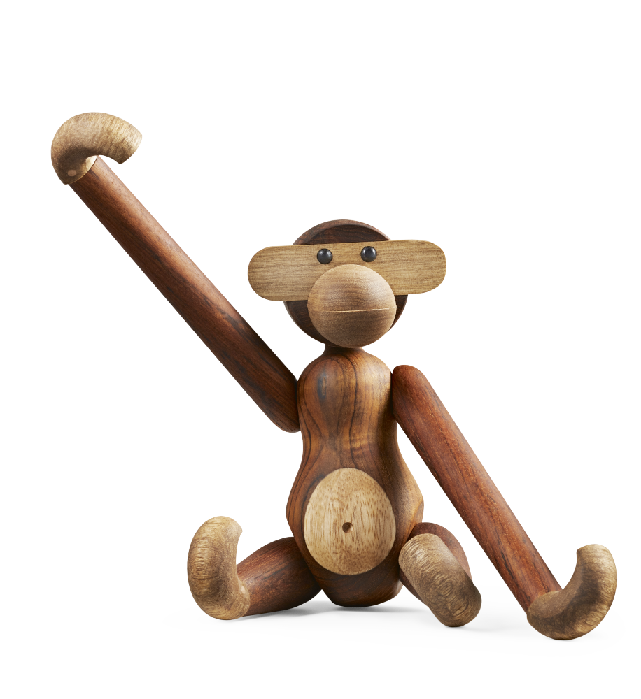Kay Bojesen abe, mellem, teaktræ