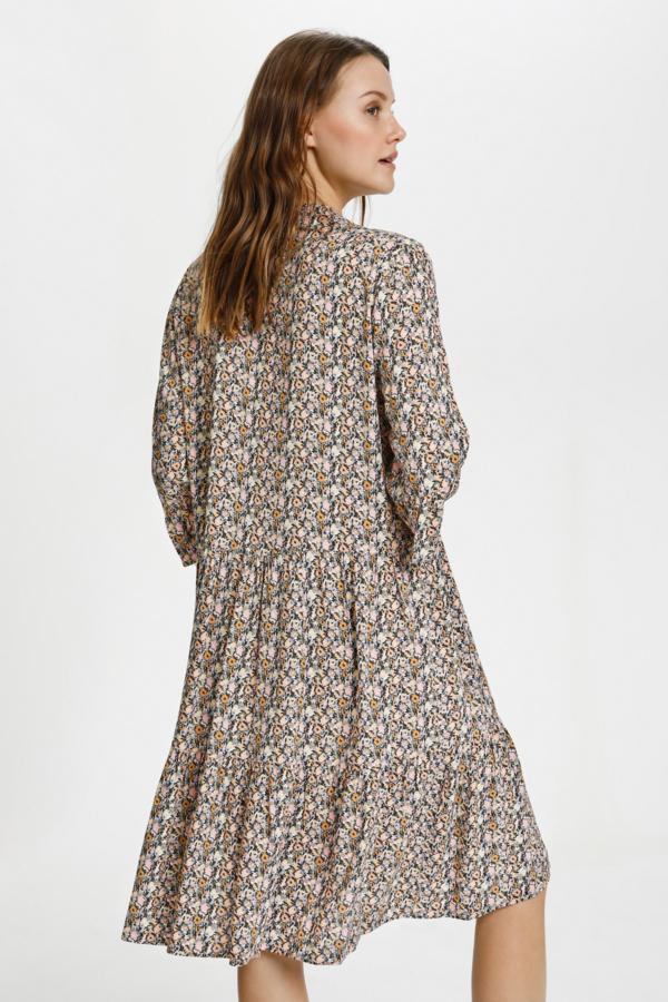 Saint Tropez Eda kjole, bright white optimism florals, small