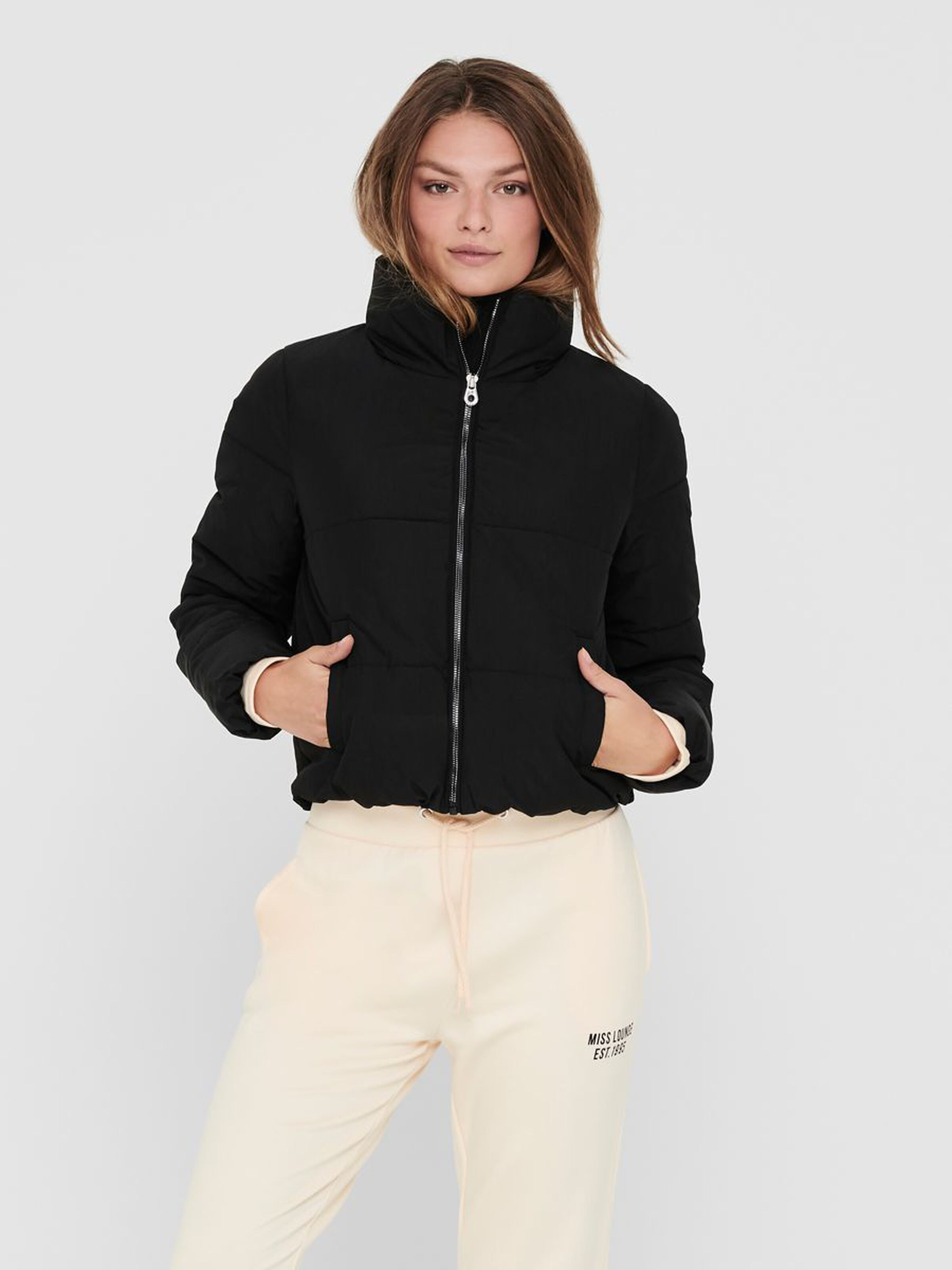 Only Solid Colored jacket, black, x-large