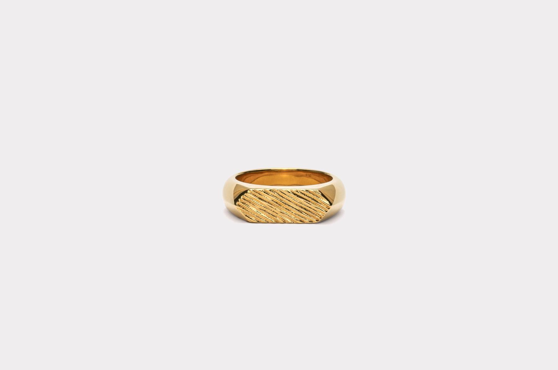 Frederik IX Studios Hexagon brushed ring