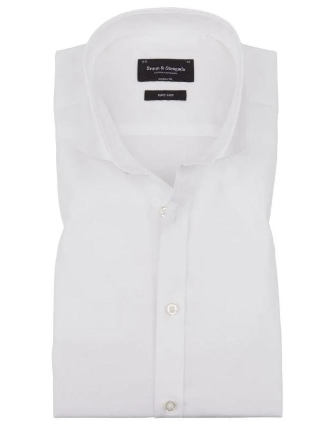 Bruun & Stengade Zlatan Modern Fit skjorte, white, 44