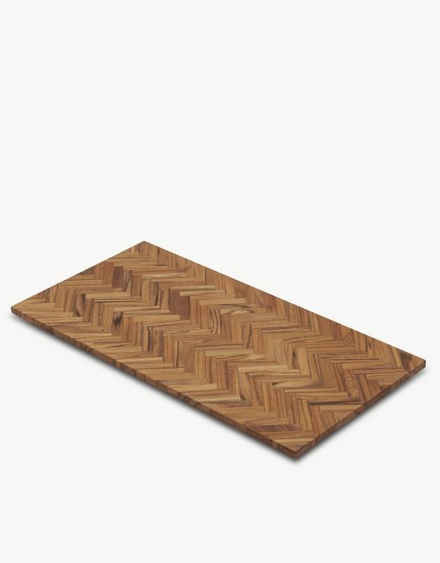 SKAGERAK Sild serveringsbræt, 24x49 cm, teaktræ