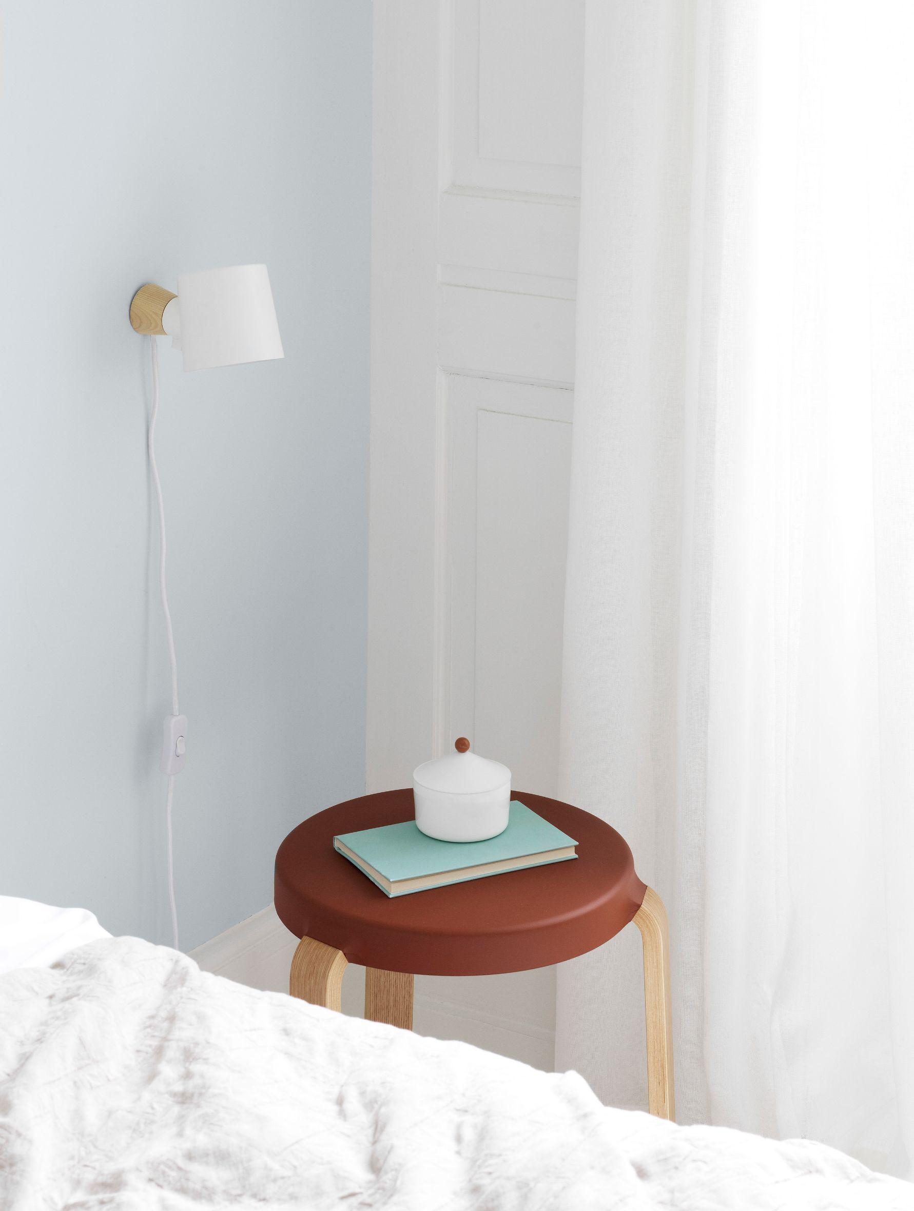 Normann Rise væglampe, 9,7 cm, hvid