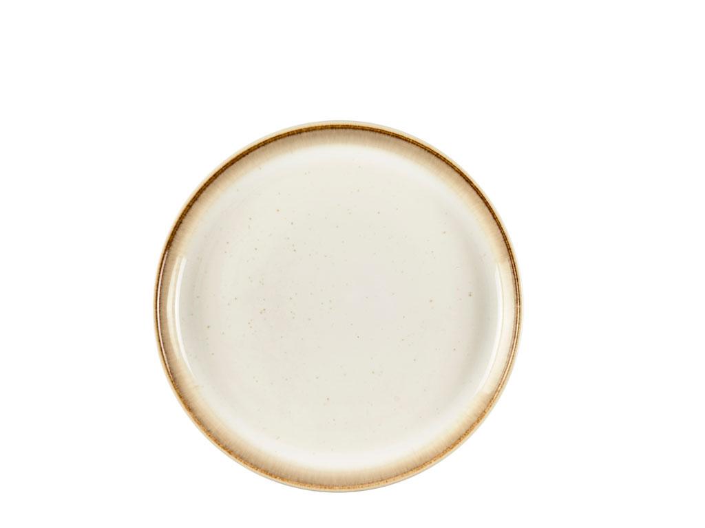 Bitz Gastro tallerken, Ø17 cm, creme/creme