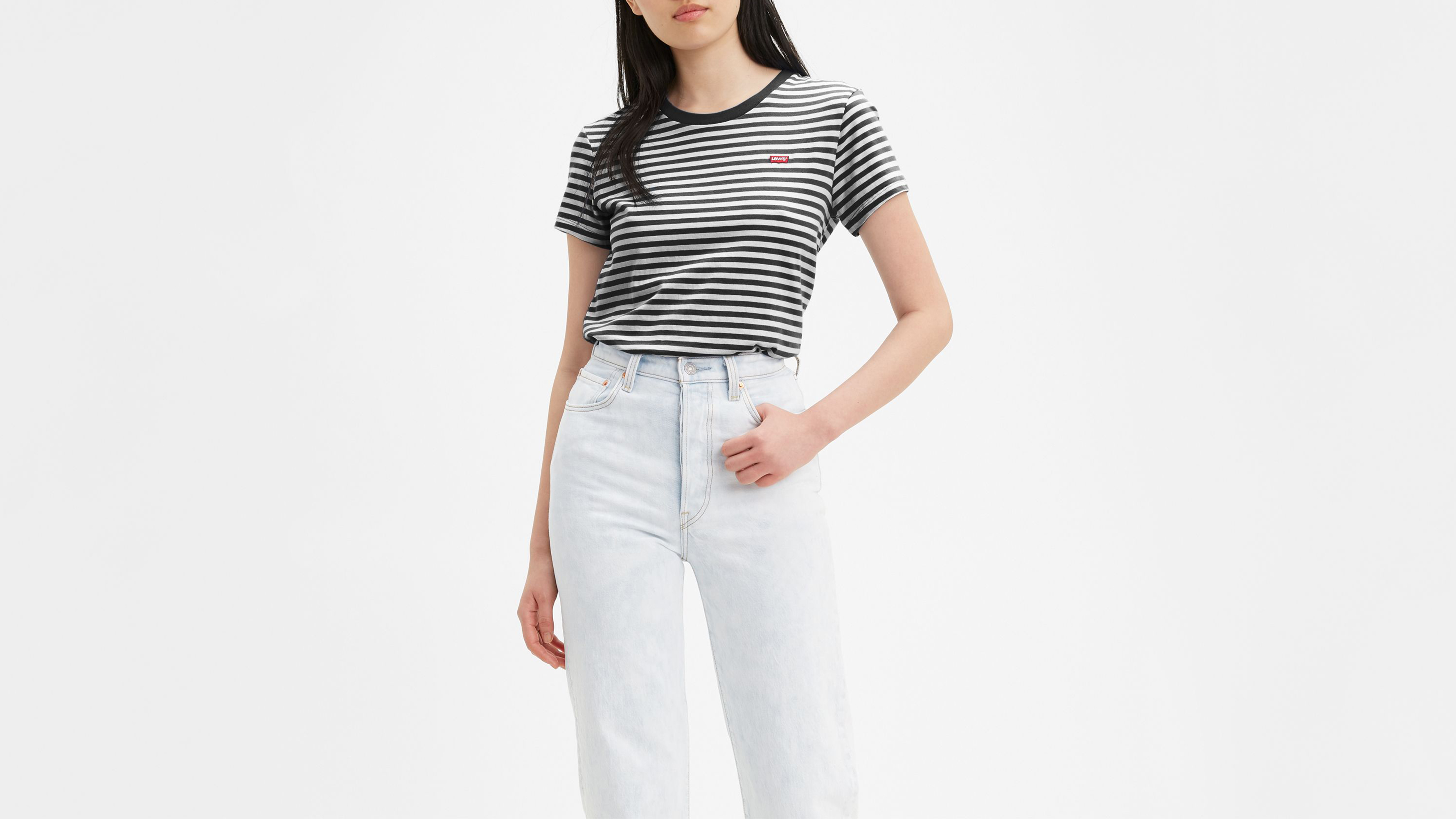 Levi's The Perfect Tee t-shirt, caviar, small