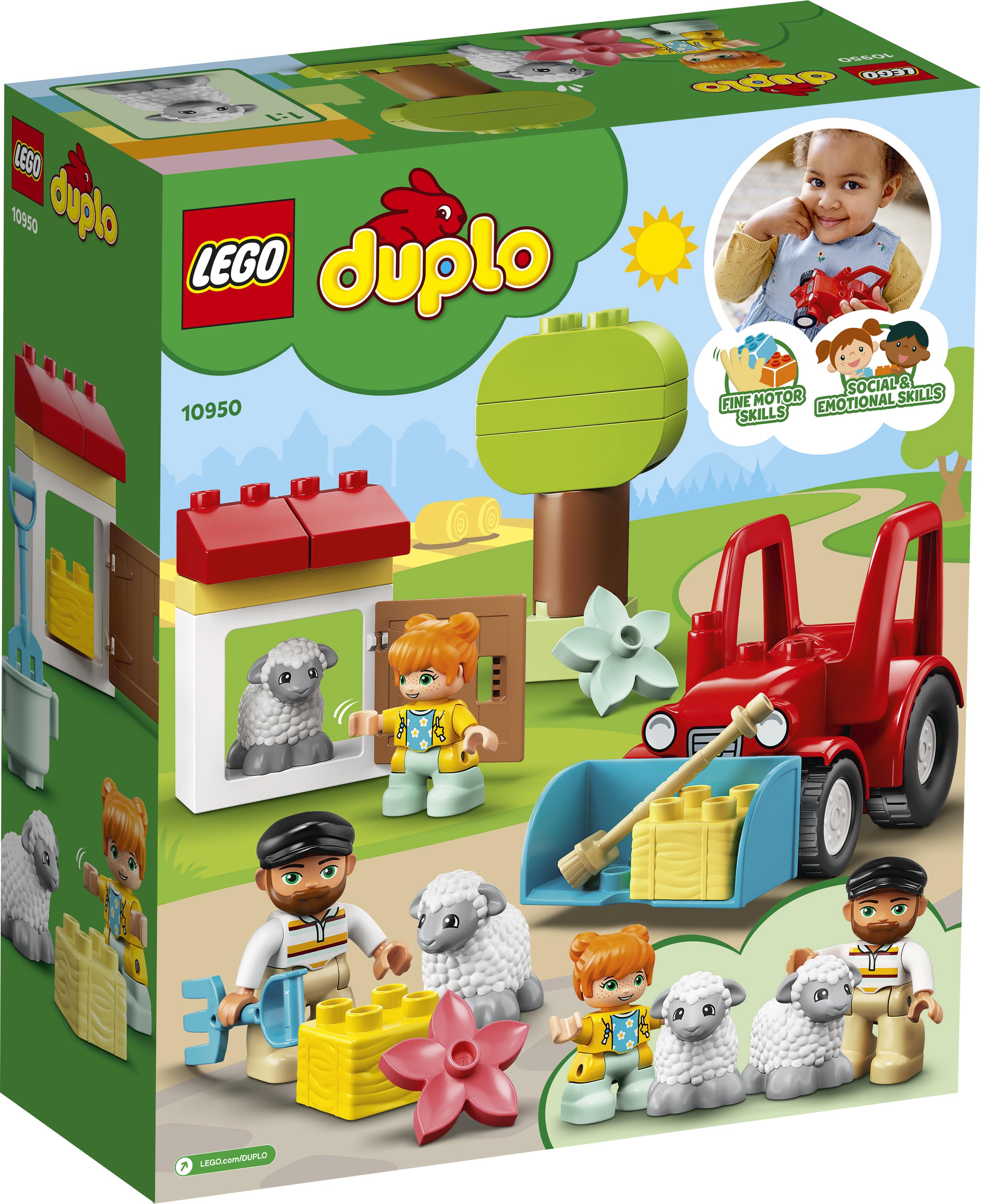 LEGO DUPLO Traktor og pasning af bondegårdsdyr - 10950