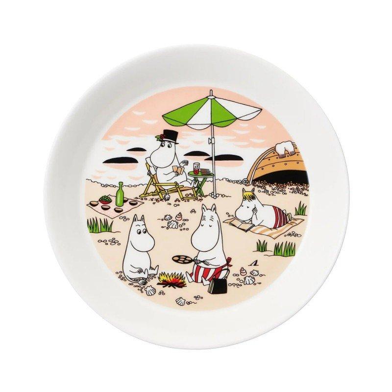 Mumi by Arabia tallerken, sammen, Ø19 cm