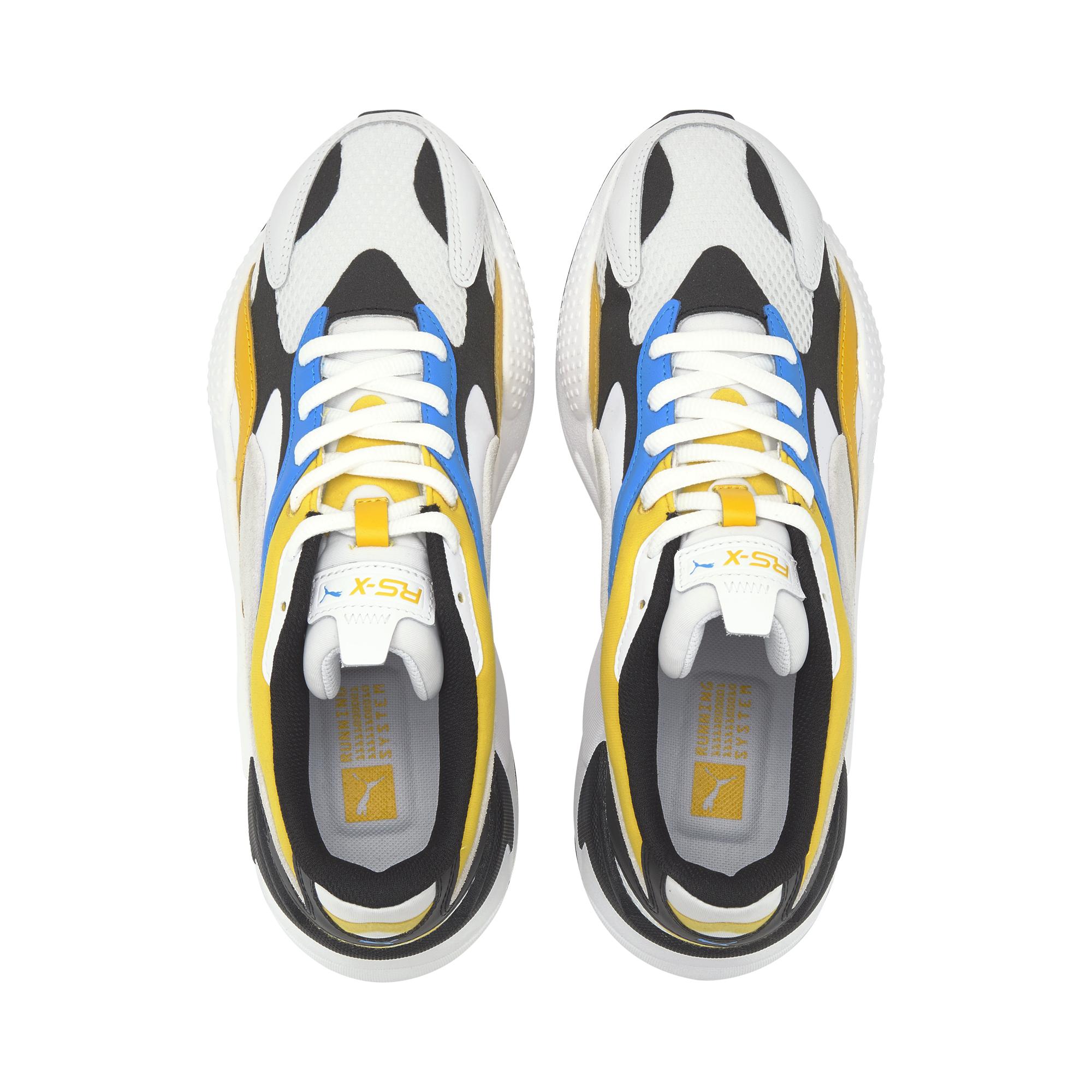 Puma RS-X3 sneakers, white/yellow, 43